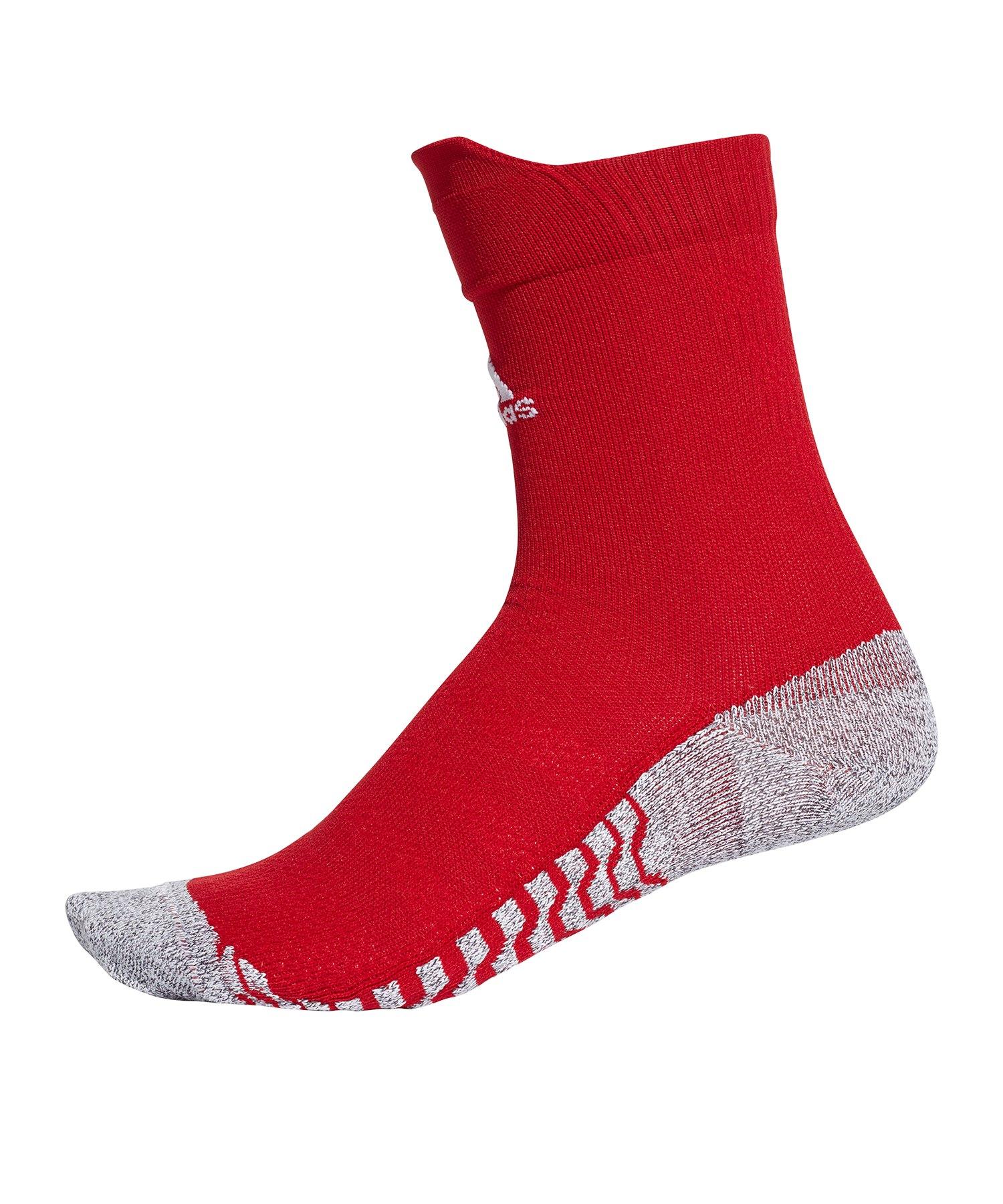 adidas Alphaskin Traxion Crew UL Socken Rot Weiss - rot