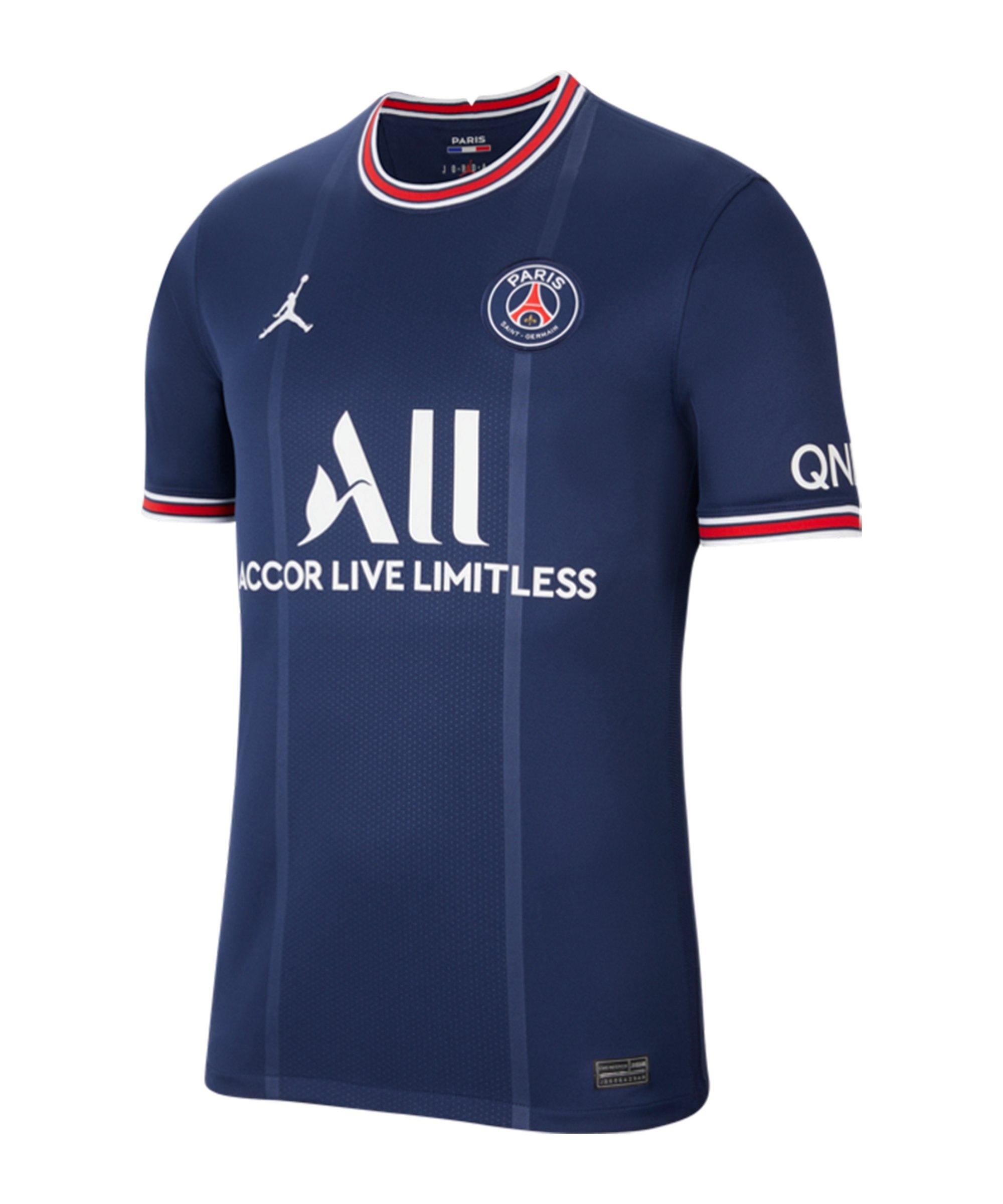 Jordan Paris St. Germain Trikot Home 2021/2022 Blau F411 - blau