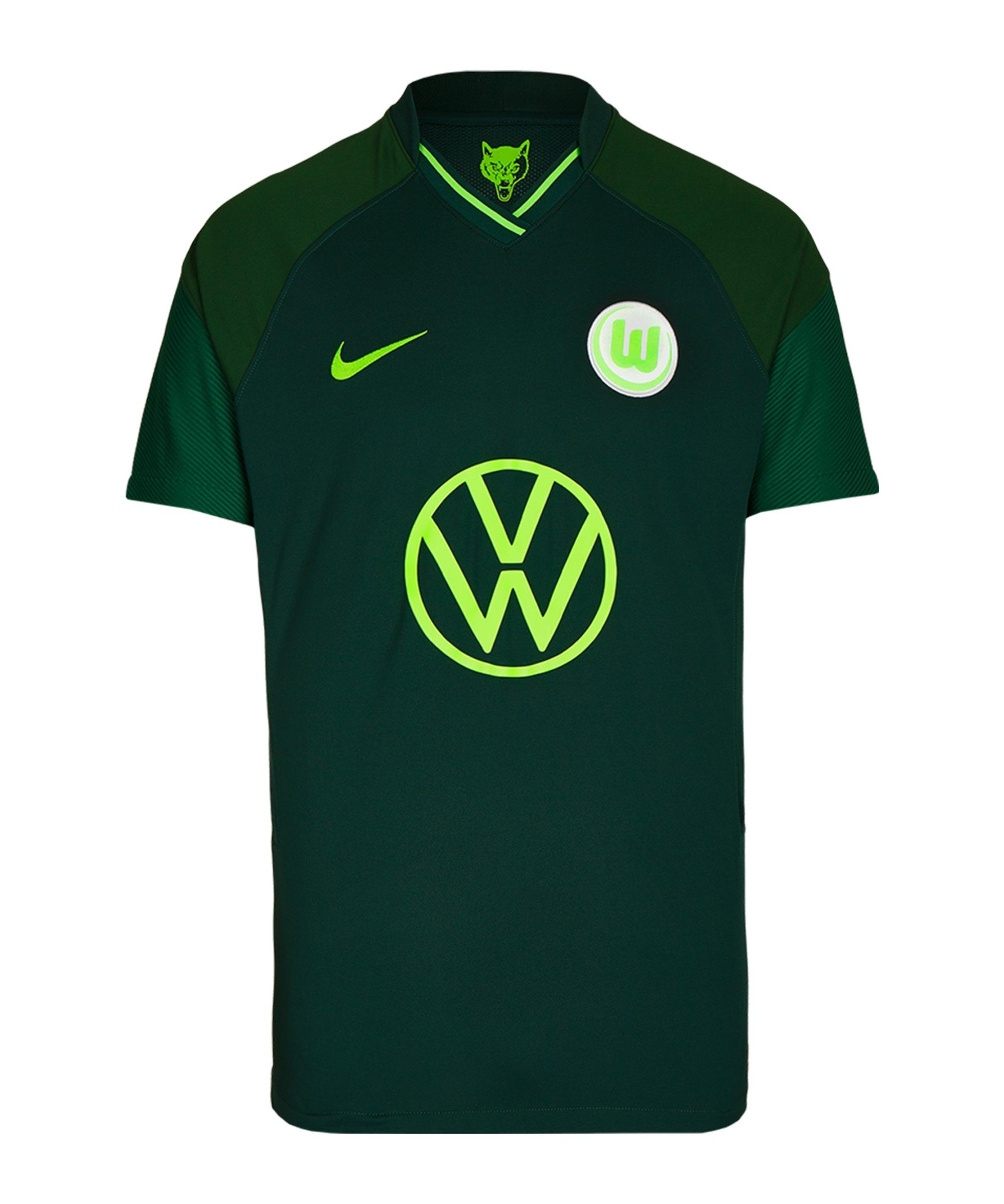 Nike VfL Wolfsburg Trikot Away 2021/2022 Grün F398 - gruen