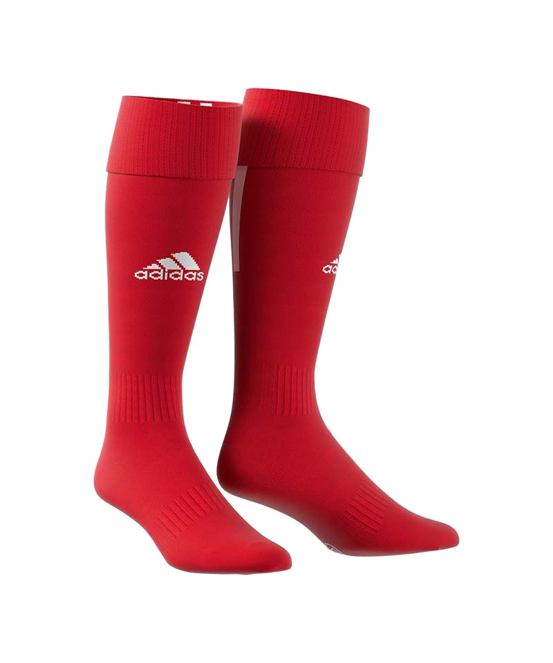 adidas Santos 18 Stutzenstrumpf Rot Weiss - rot