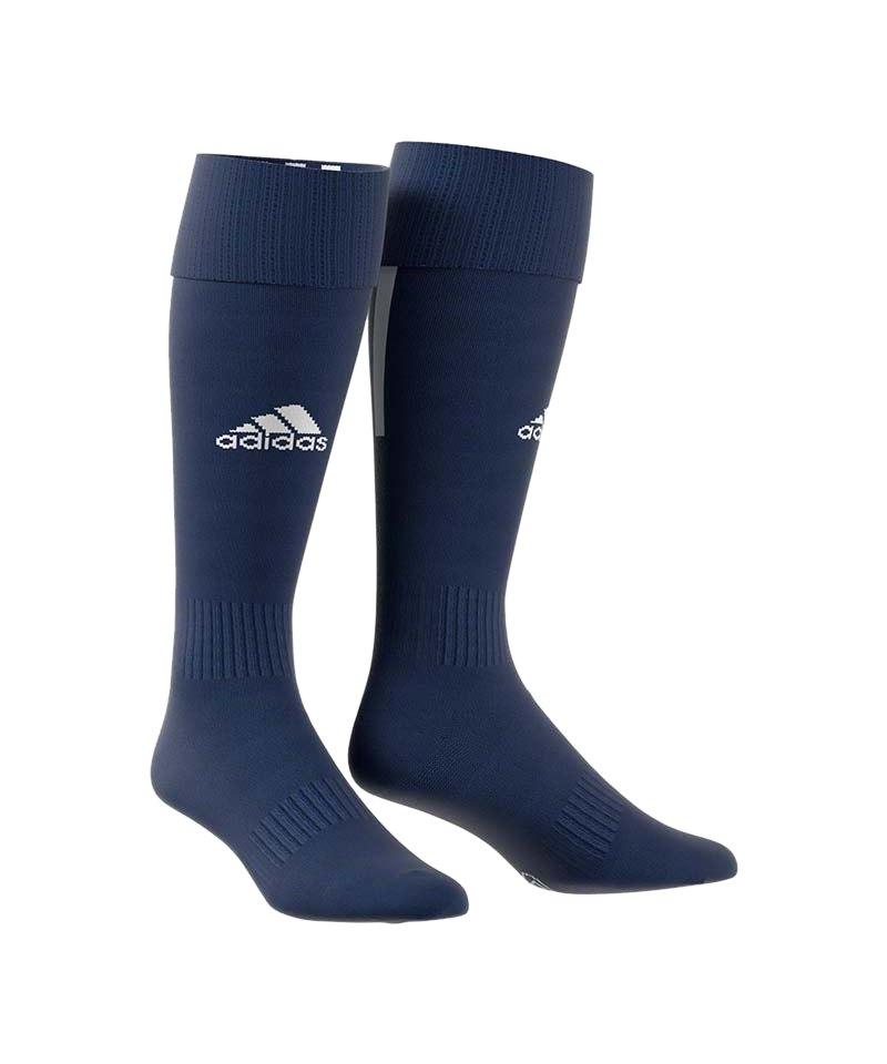 adidas Santos 18 Stutzenstrumpf Dunkelblau Weiss - blau