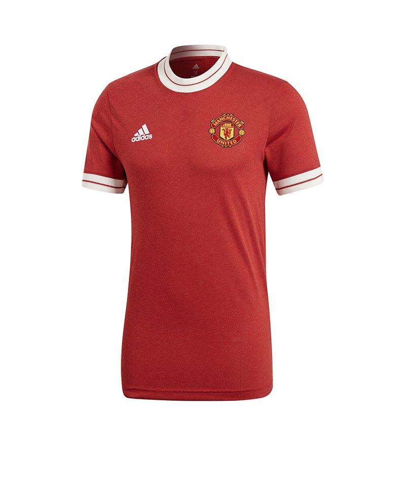 adidas Manchester United Icon Trikot Rot Schwarz - rot