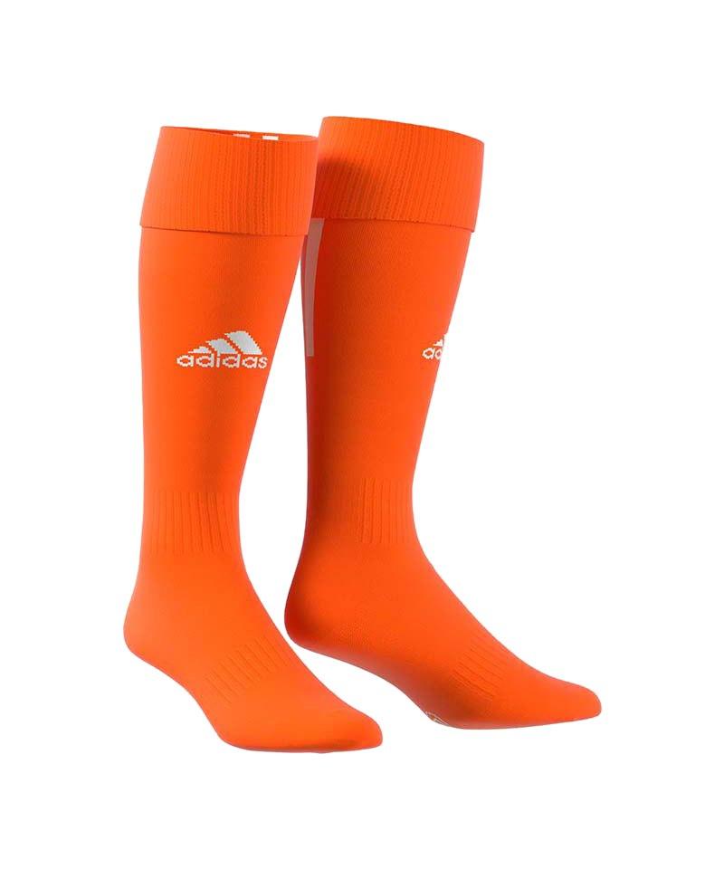 adidas Santos 18 Stutzenstrumpf Orange Weiss - orange