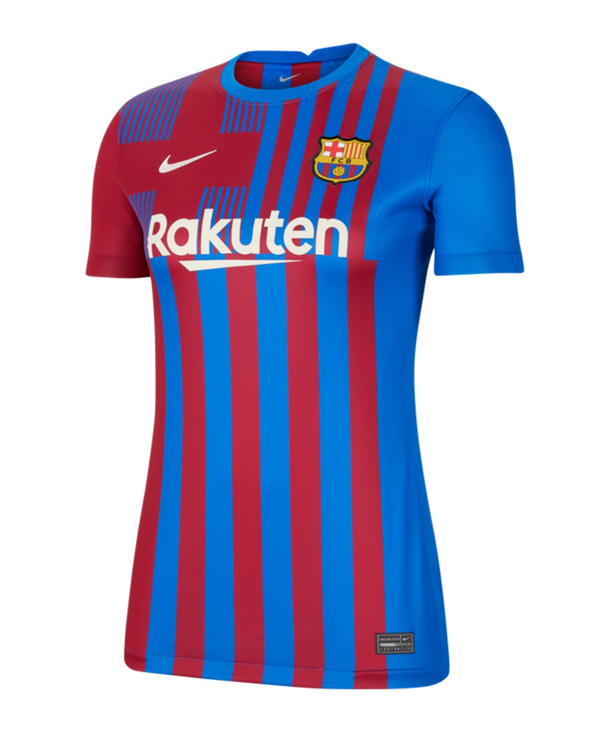 Nike FC Barcelona Trikot Home 2021/2022 Damen F428 - blau