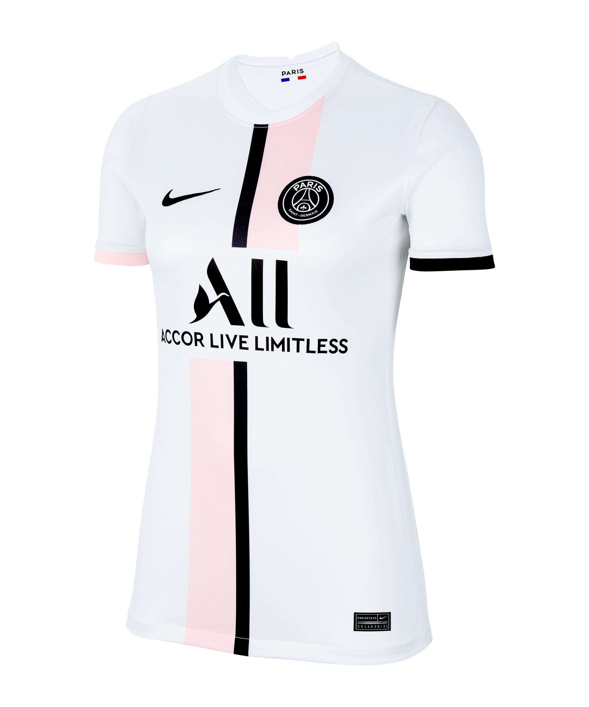 Nike Paris St. Germain Trikot Away 2021/2022 Damen F101 - weiss