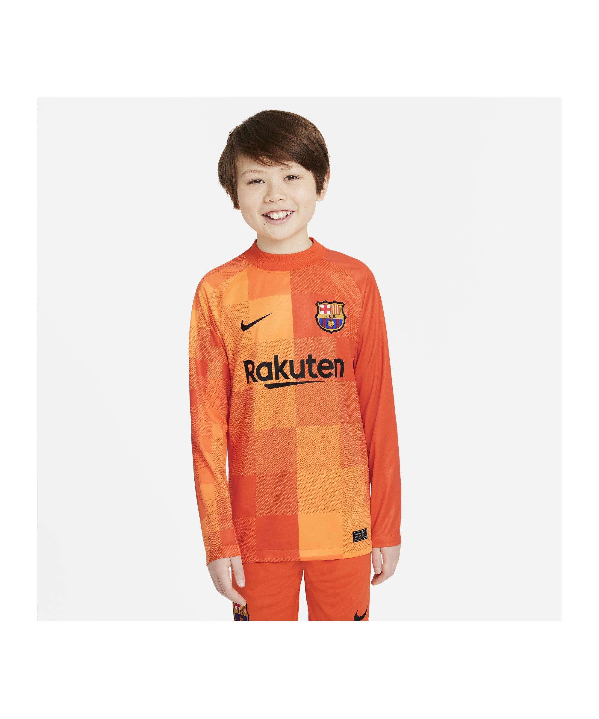 Nike FC Barcelona Torwarttrikot 2021/2022 Kids F838 - orange