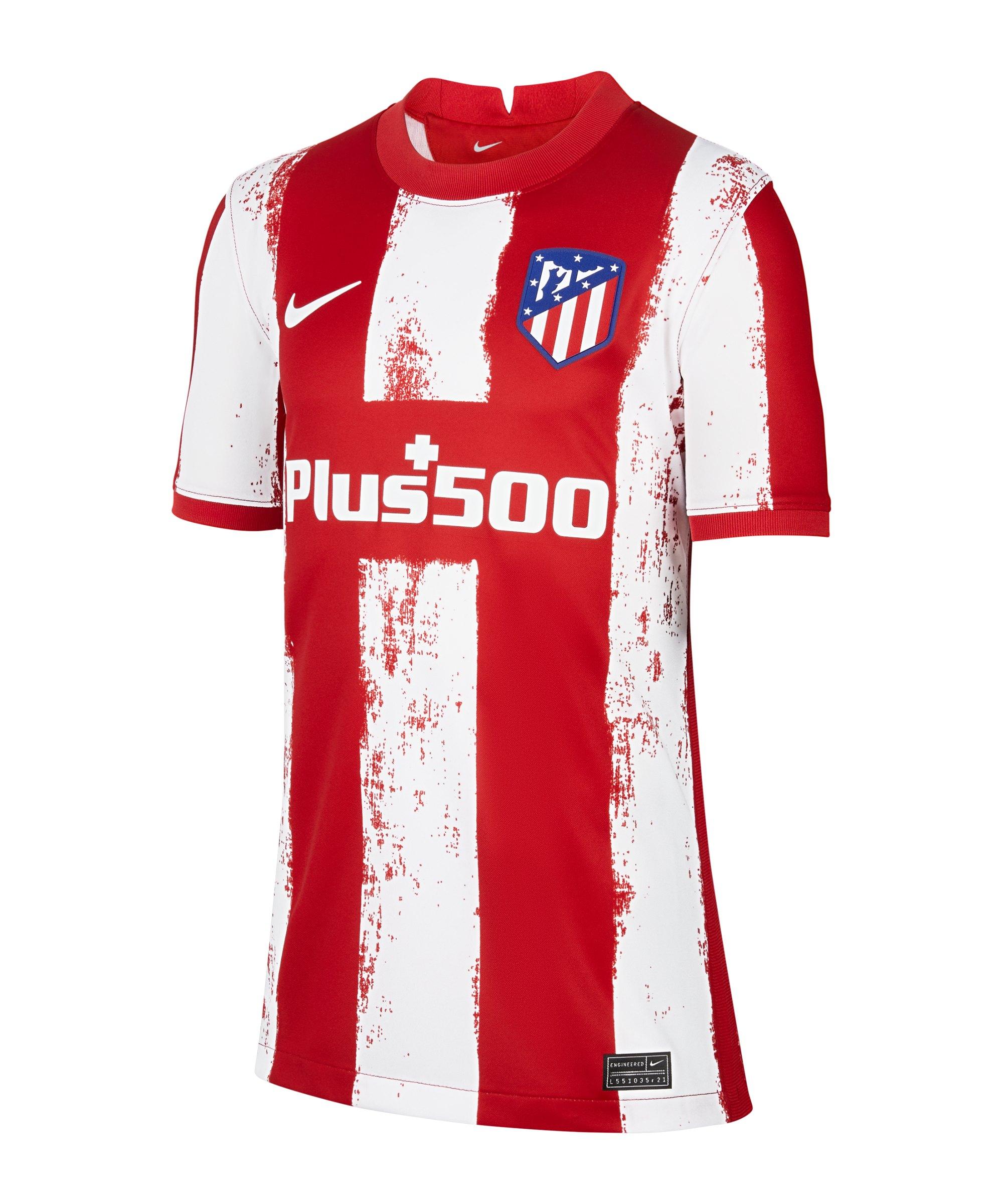 Nike Atletico Madrid Trikot Home 2021/2022 Kids F612 - rot