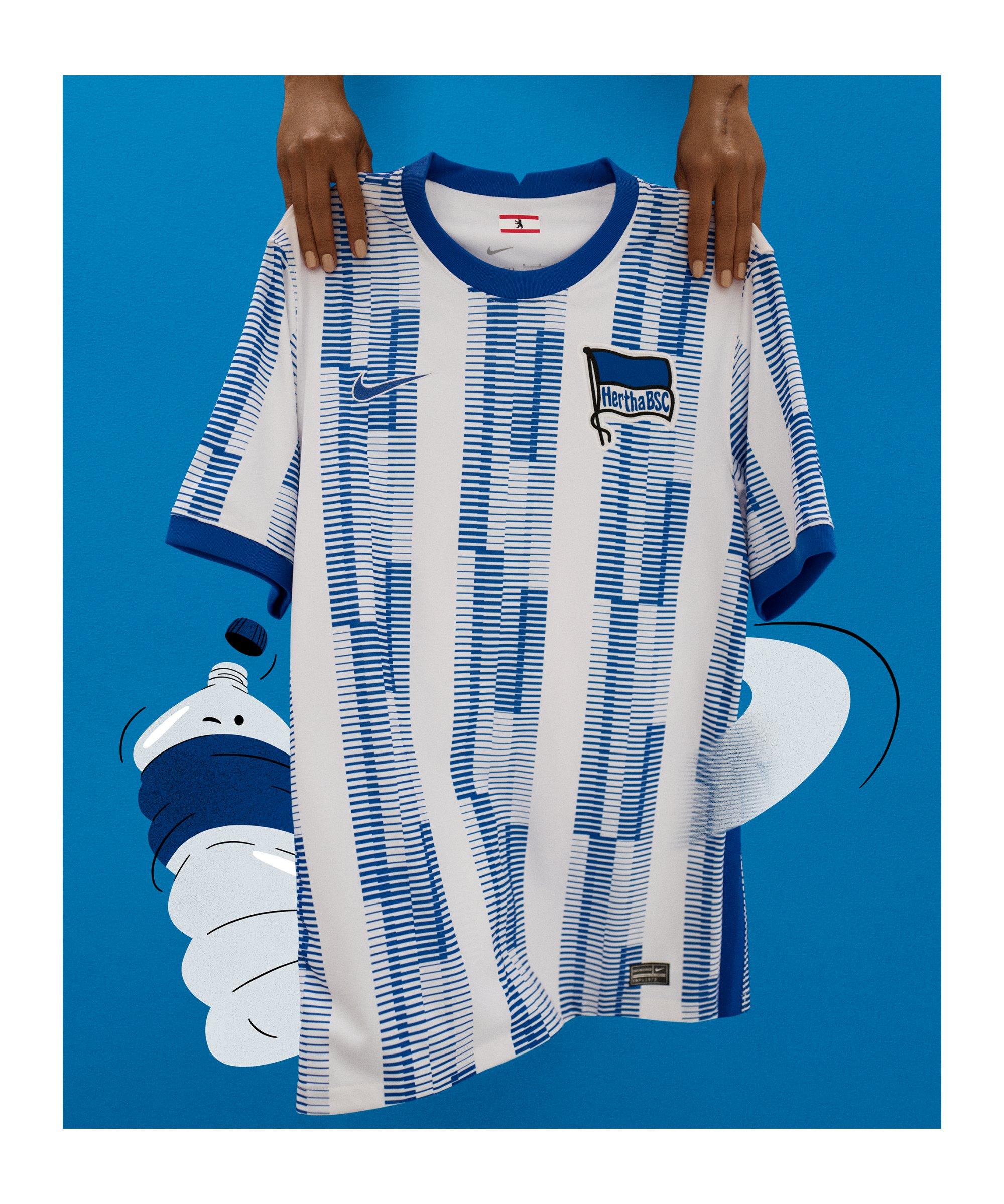 Nike Hertha BSC Trikot Home 2021/2022 Kids F101 - weiss