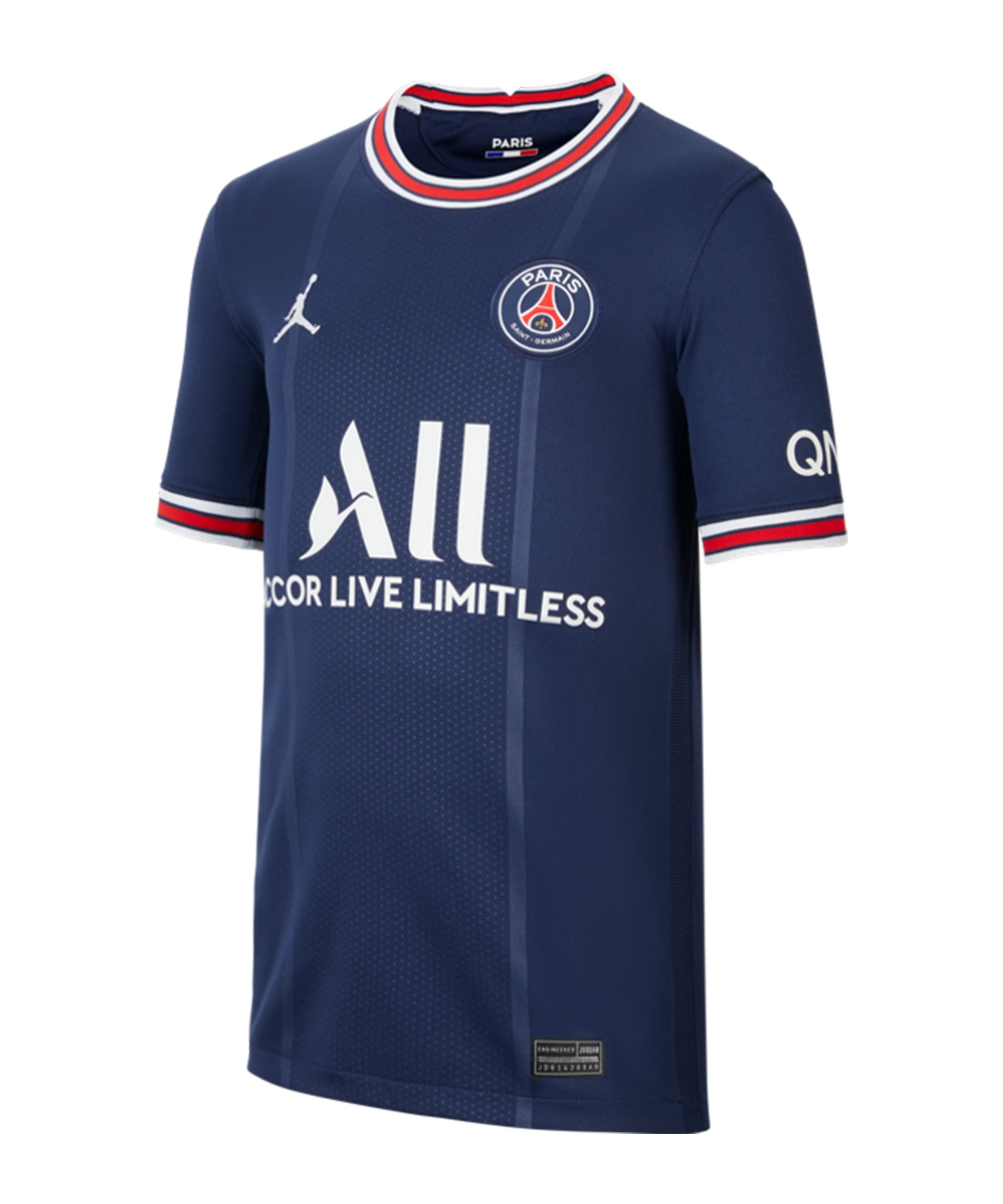 Jordan Paris St. Germain Triko Home 2021/2022 Kids Blau F411 - blau