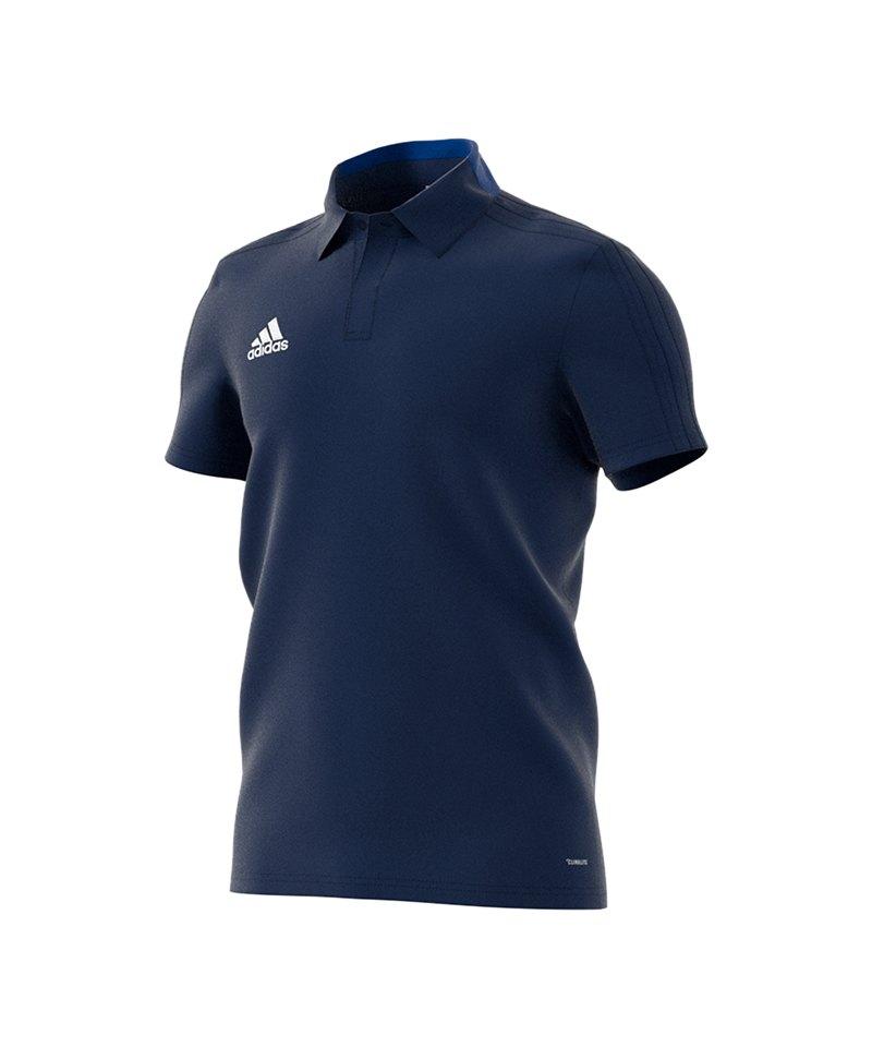 adidas Condivo 18 Cotton Poloshirt Dunkelblau - blau