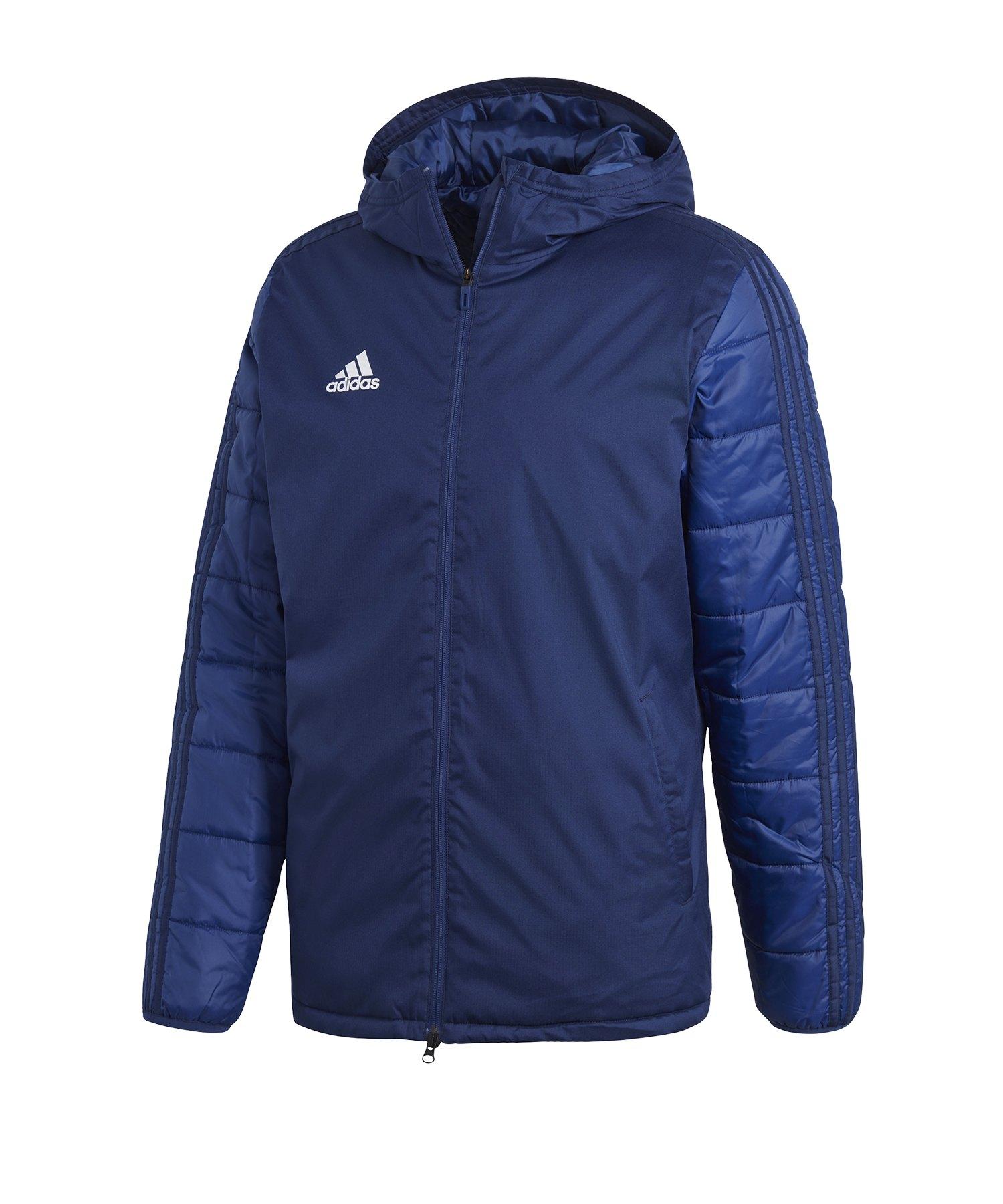 adidas Jacket 18 Winterjacke Blau Weiss - blau