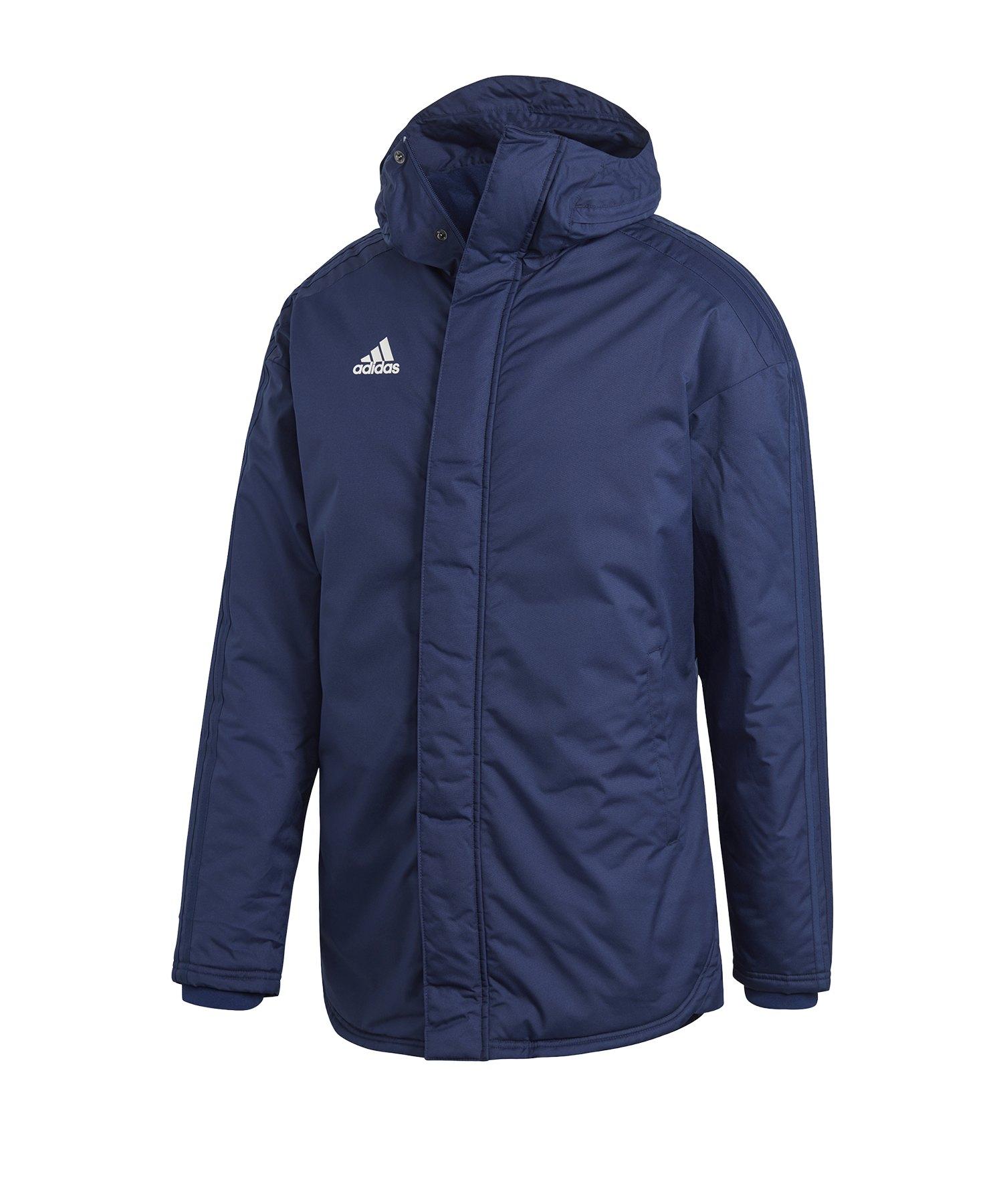 adidas Stadium Parka 18 Jacke Blau Weiss - blau