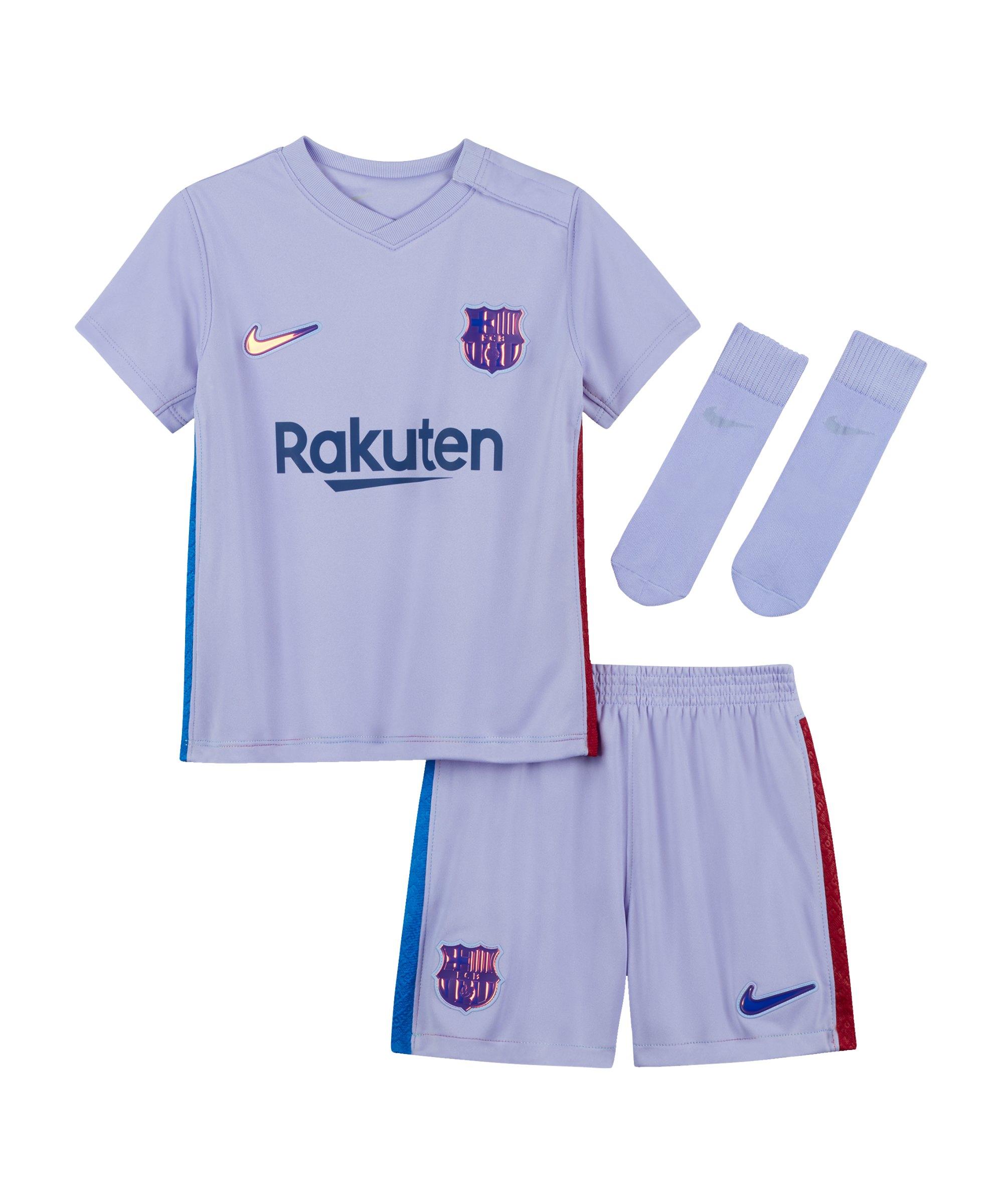 Nike FC Barcelona Babykit Away 2021/2022 Lila F581 - lila