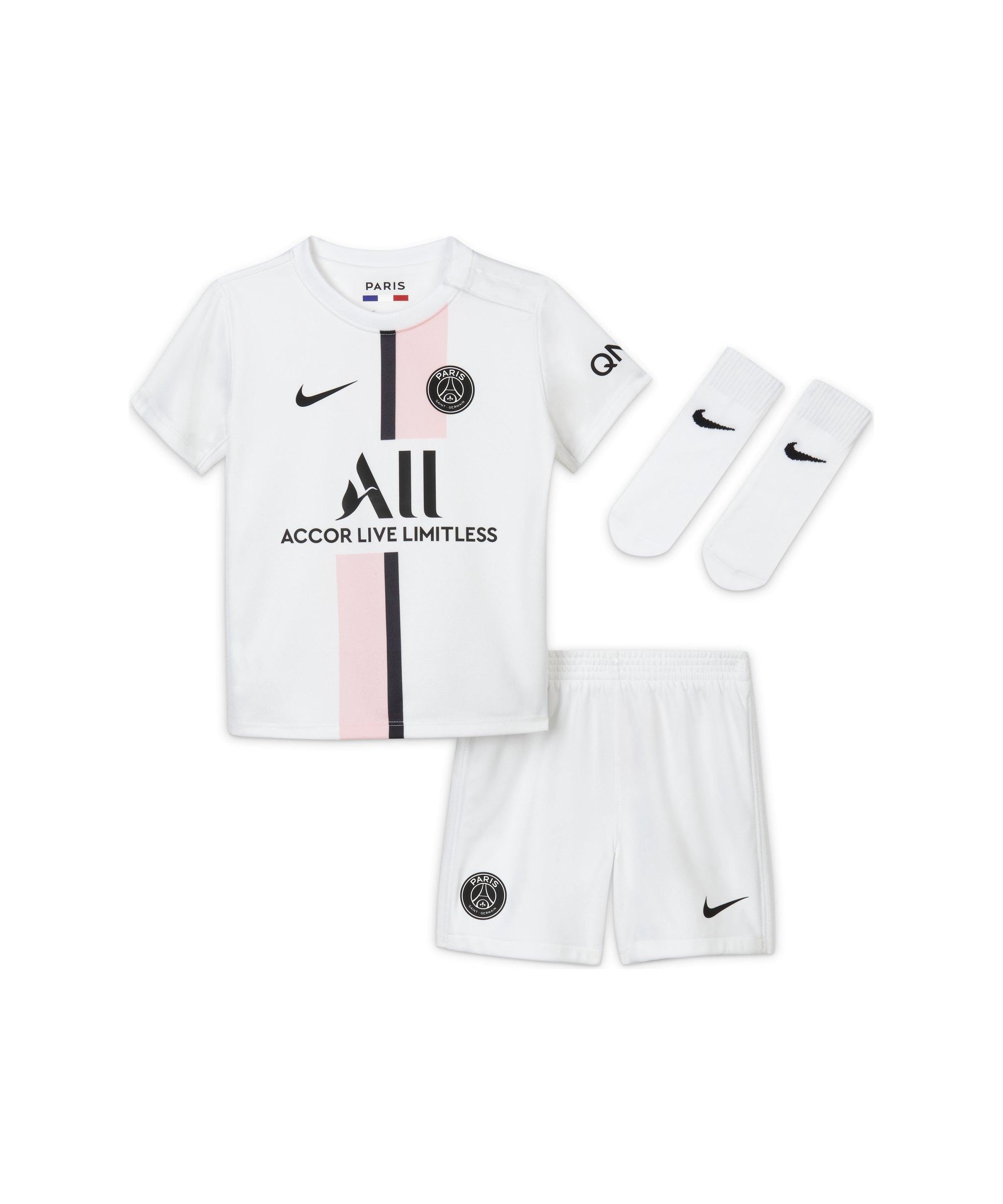 Nike Paris St. Germain Babykit Away 21/22 F101 - weiss