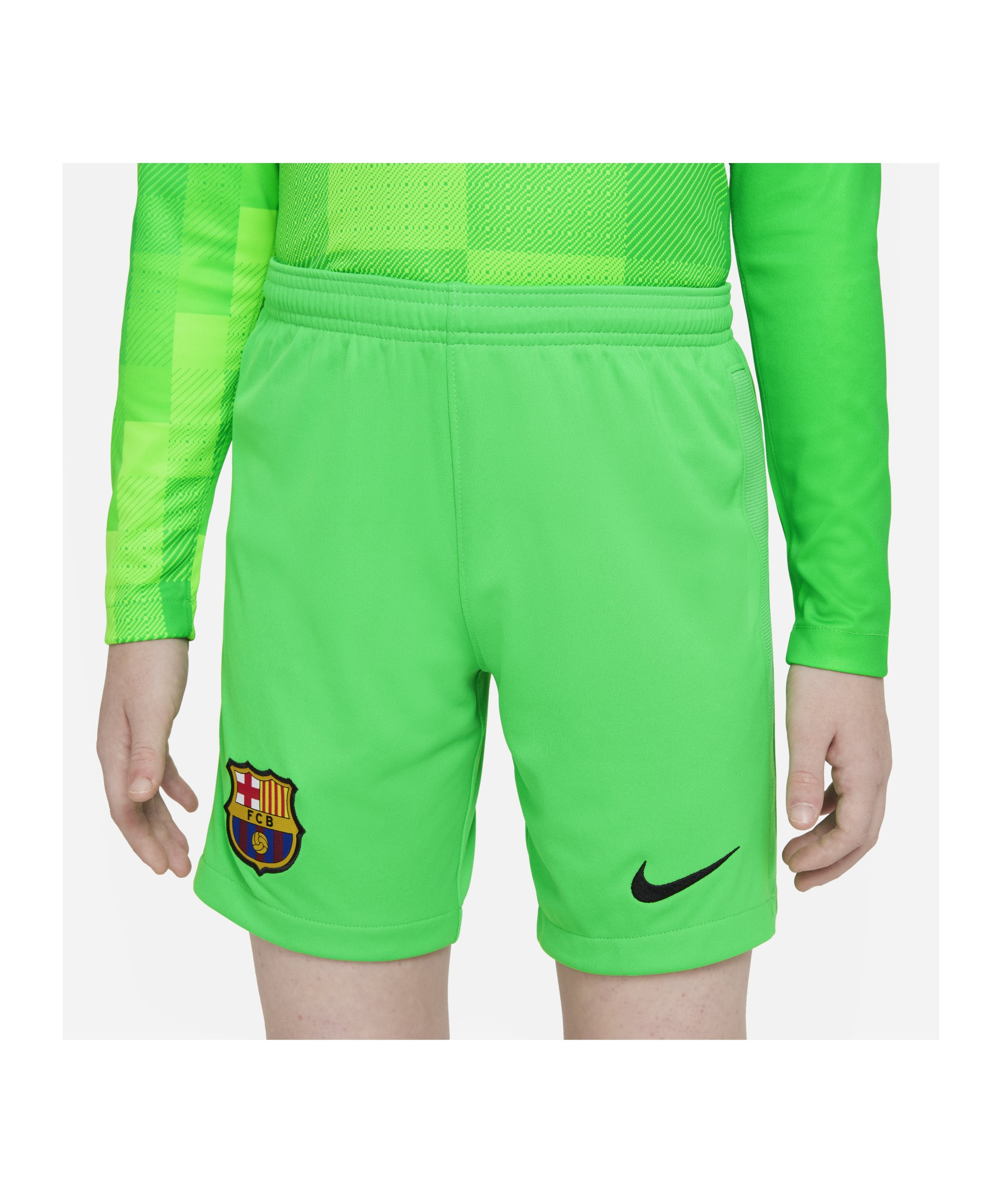Nike FC Barcelona Torwartshort 2021/2022 Kids F329 - gruen