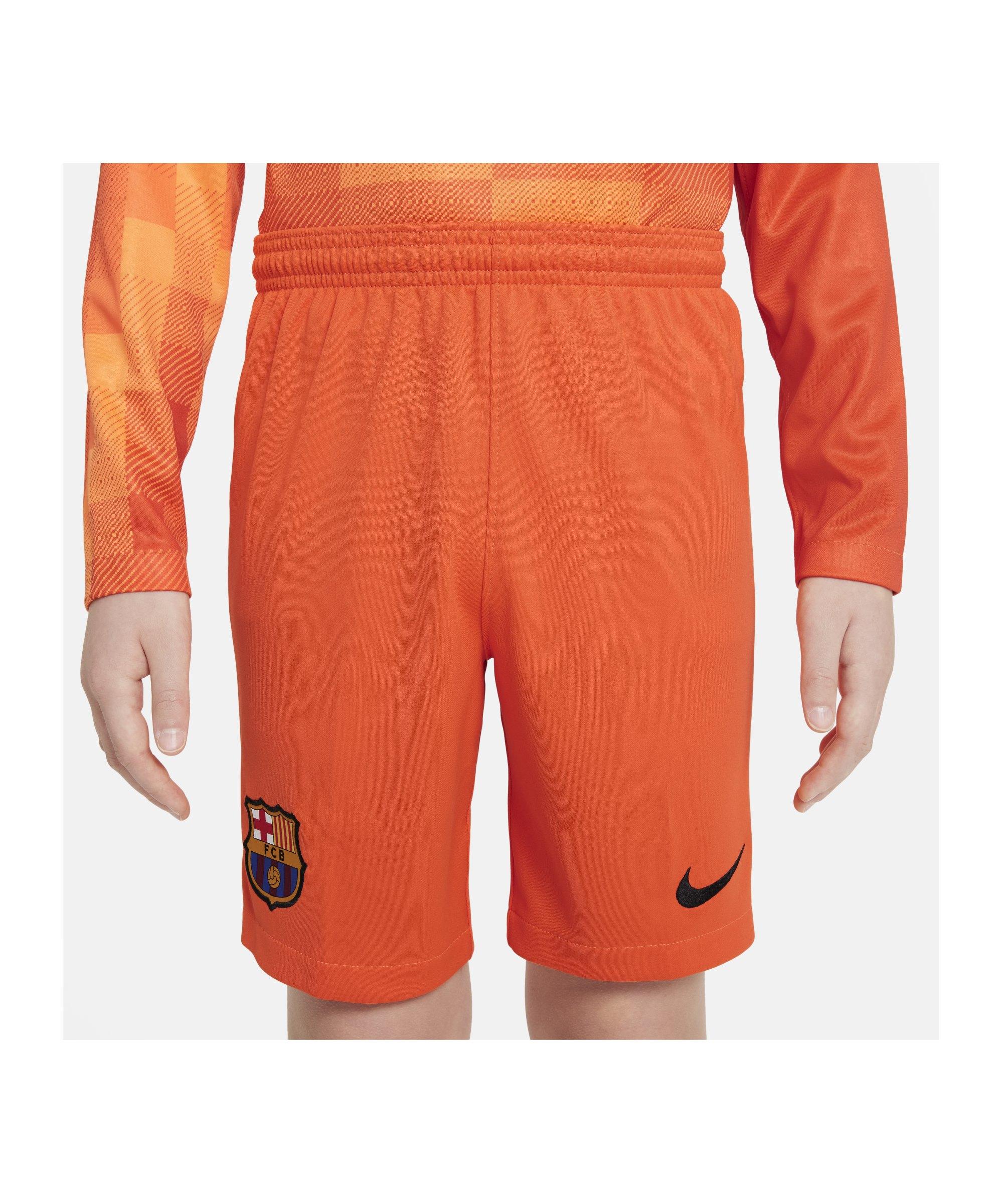 Nike FC Barcelona Torwartshort 2021/2022 Kids F837 - orange