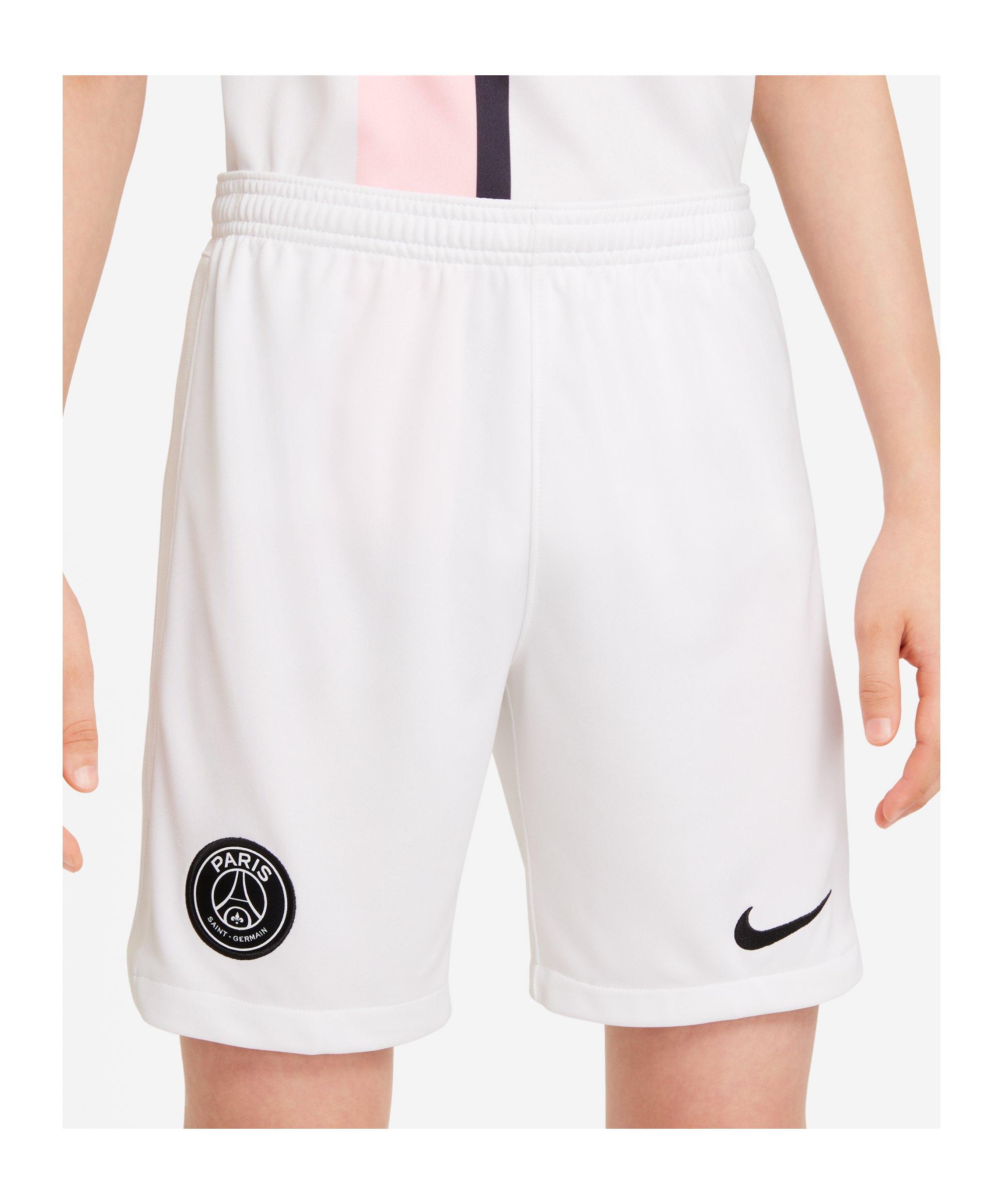 Nike Paris St. Germain Short Away 2021/2022 Kids F100 - weiss