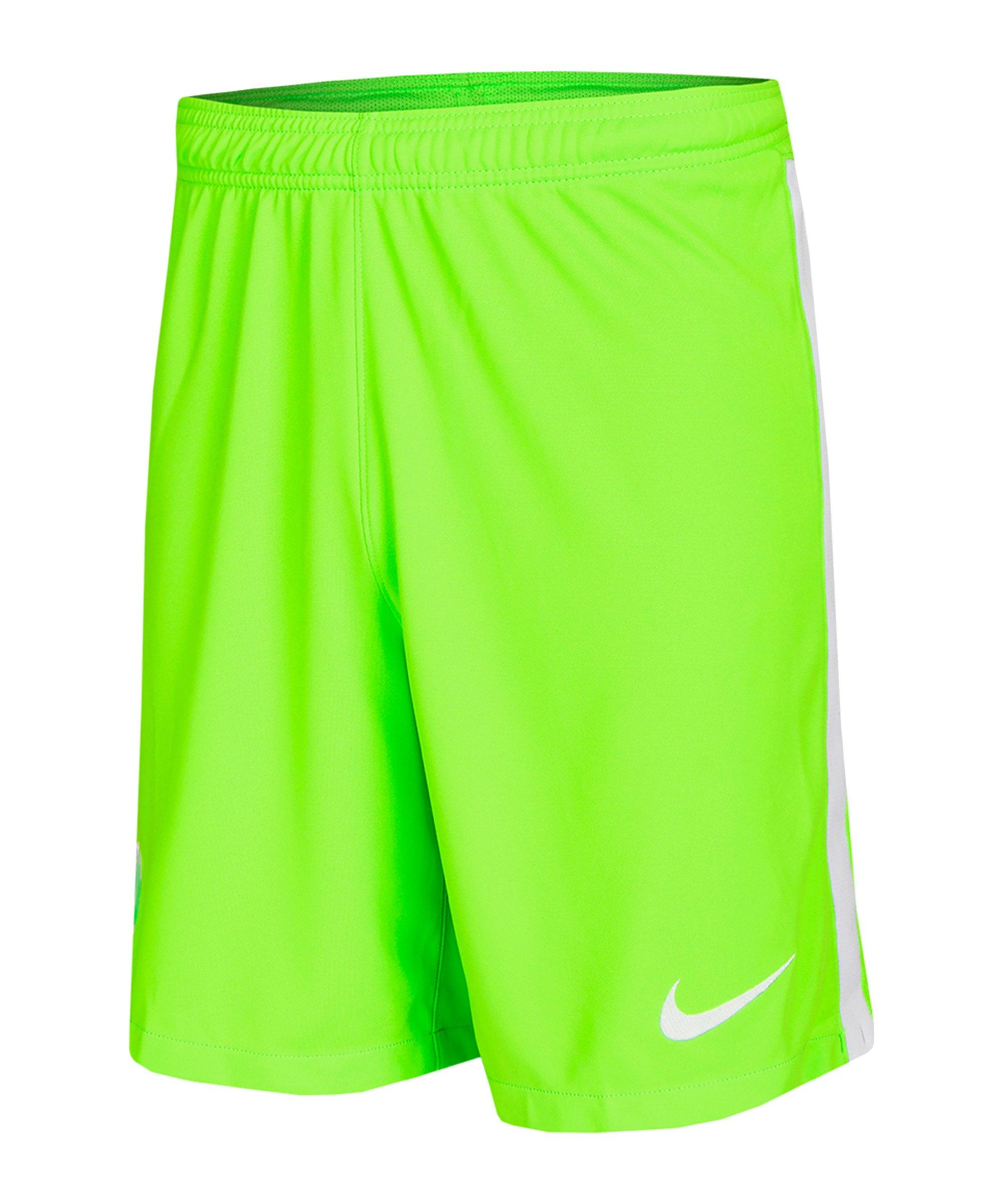 Nike VfL Wolfsburg Short Home Kids 2021/2022 F399 - gruen