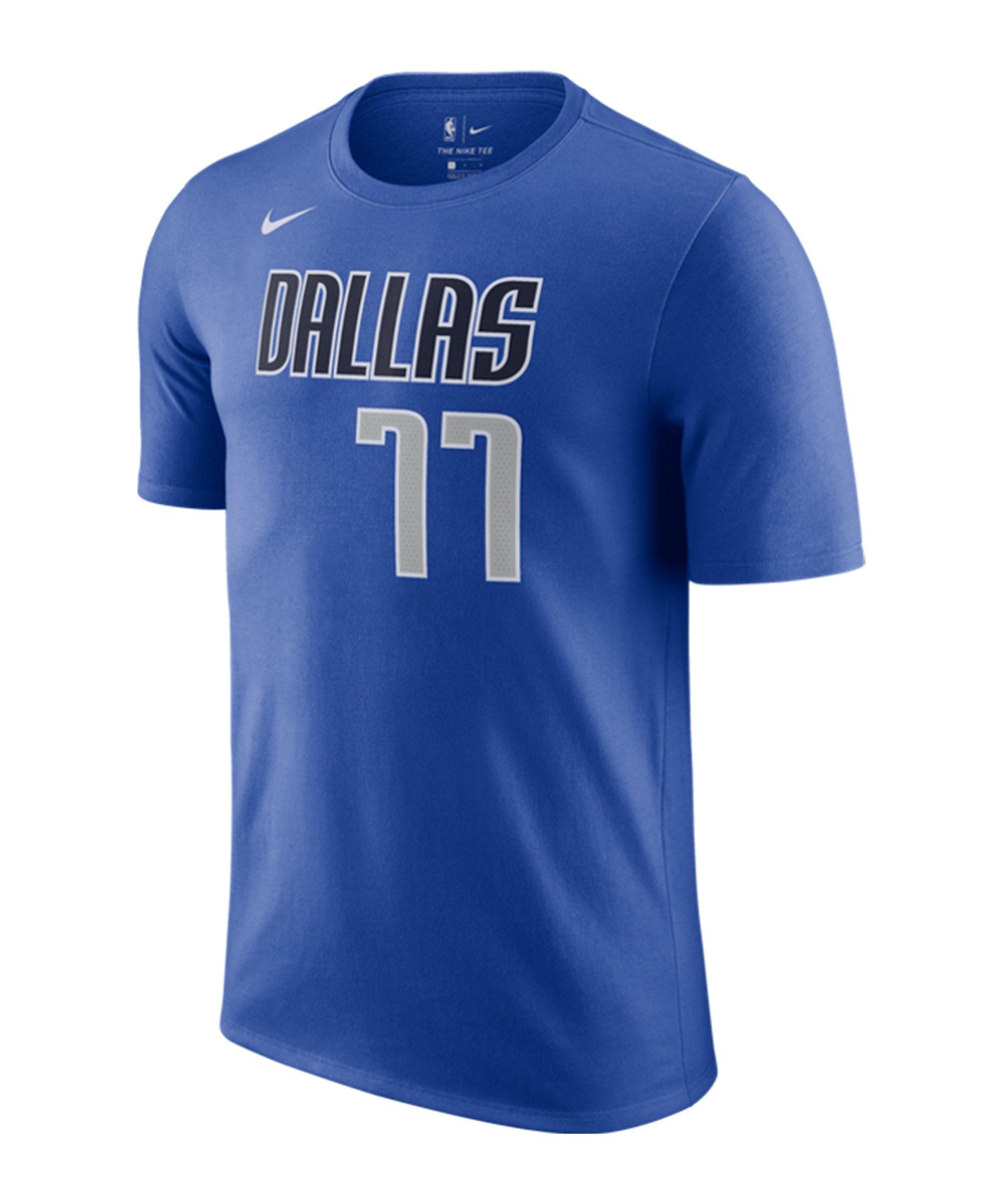 Nike Dallas Mavericks Doncic T-Shirt F482 - blau