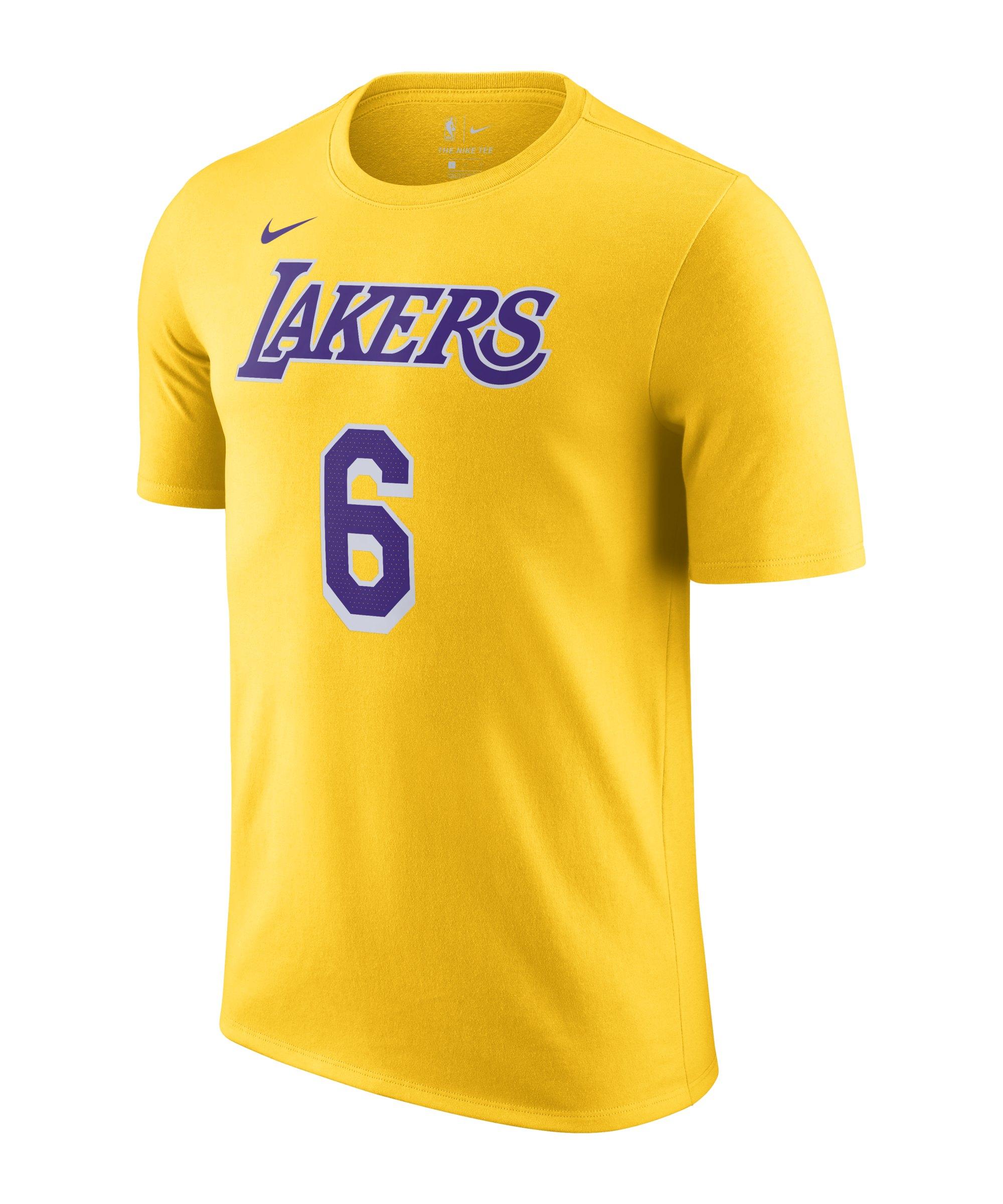 Nike LA Lakers James T-Shirt Gelb F745 - gelb