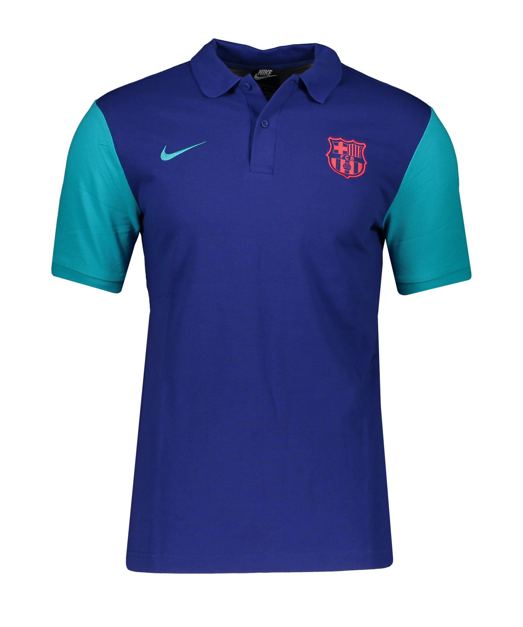 Nike FC Barcelona Poloshirt Blau F455 - blau