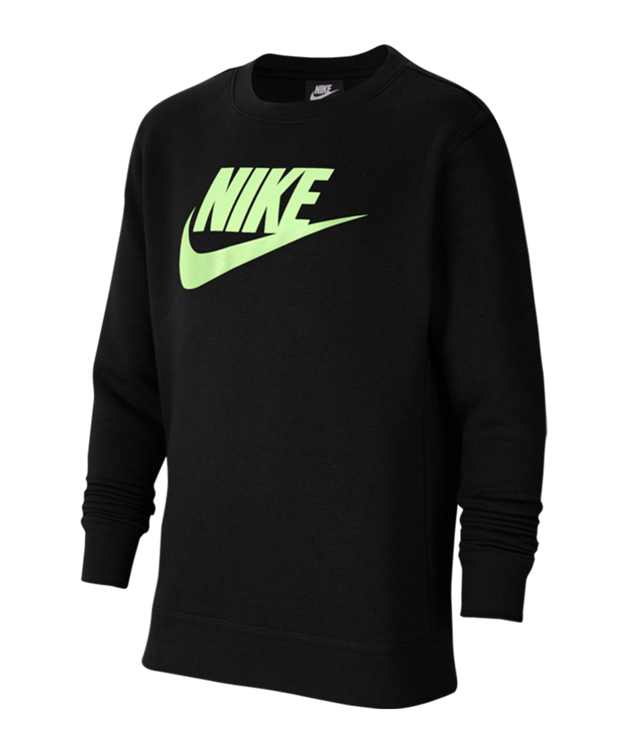 Nike Club Sweatshirt Kids Schwarz F013 - schwarz