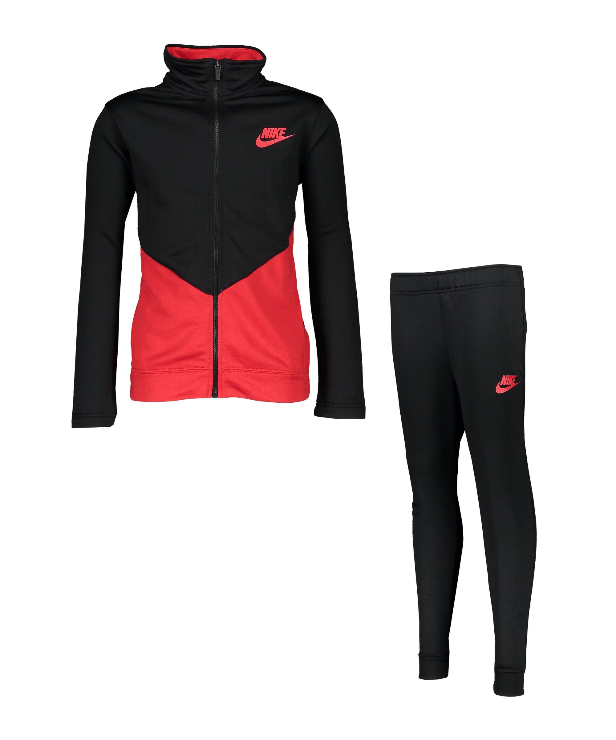 Nike Core Freizeitanzug Kids Schwarz F010 - schwarz