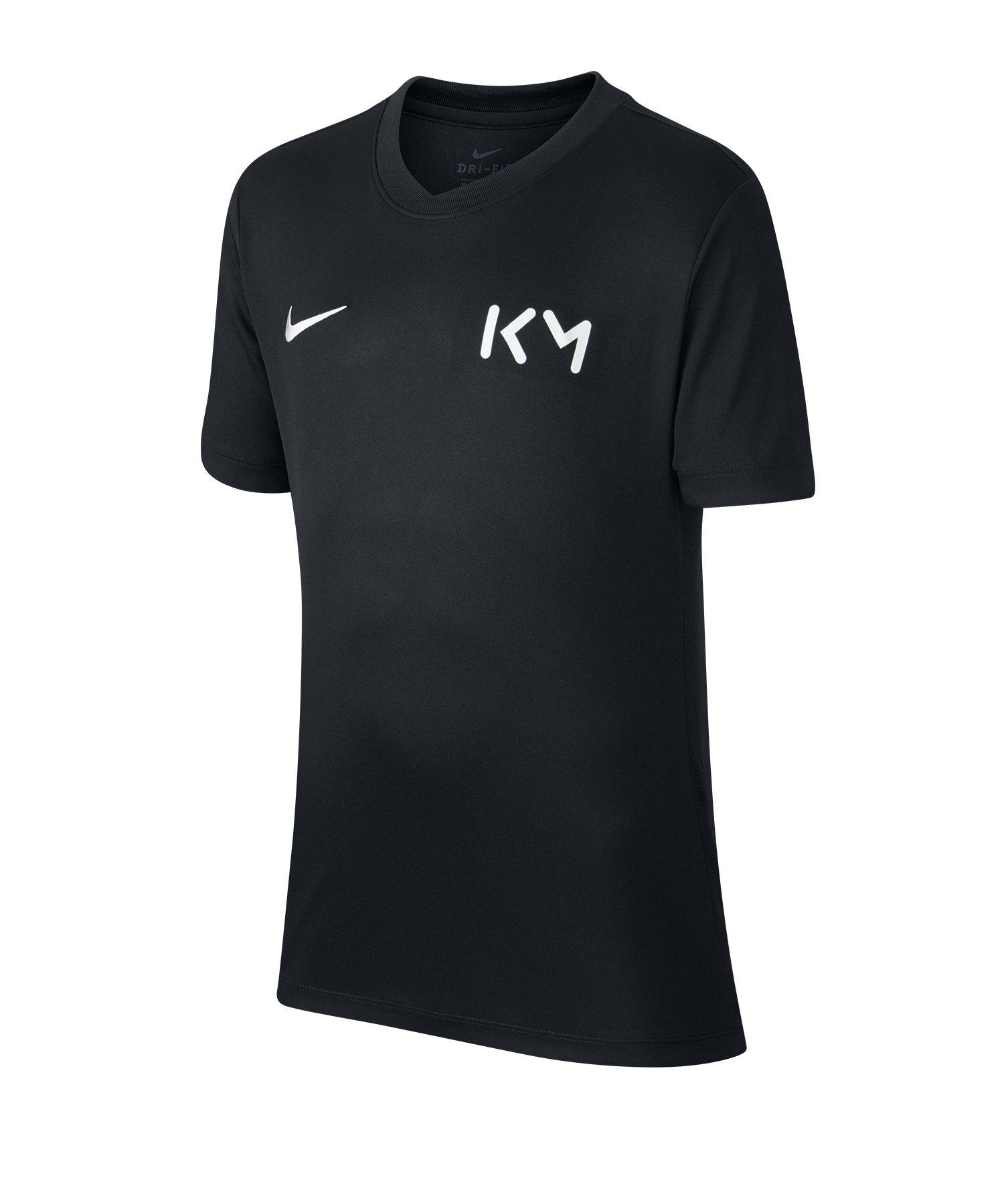 Nike Kylian Mbappe T-Shirt Kids Schwarz F010 - schwarz