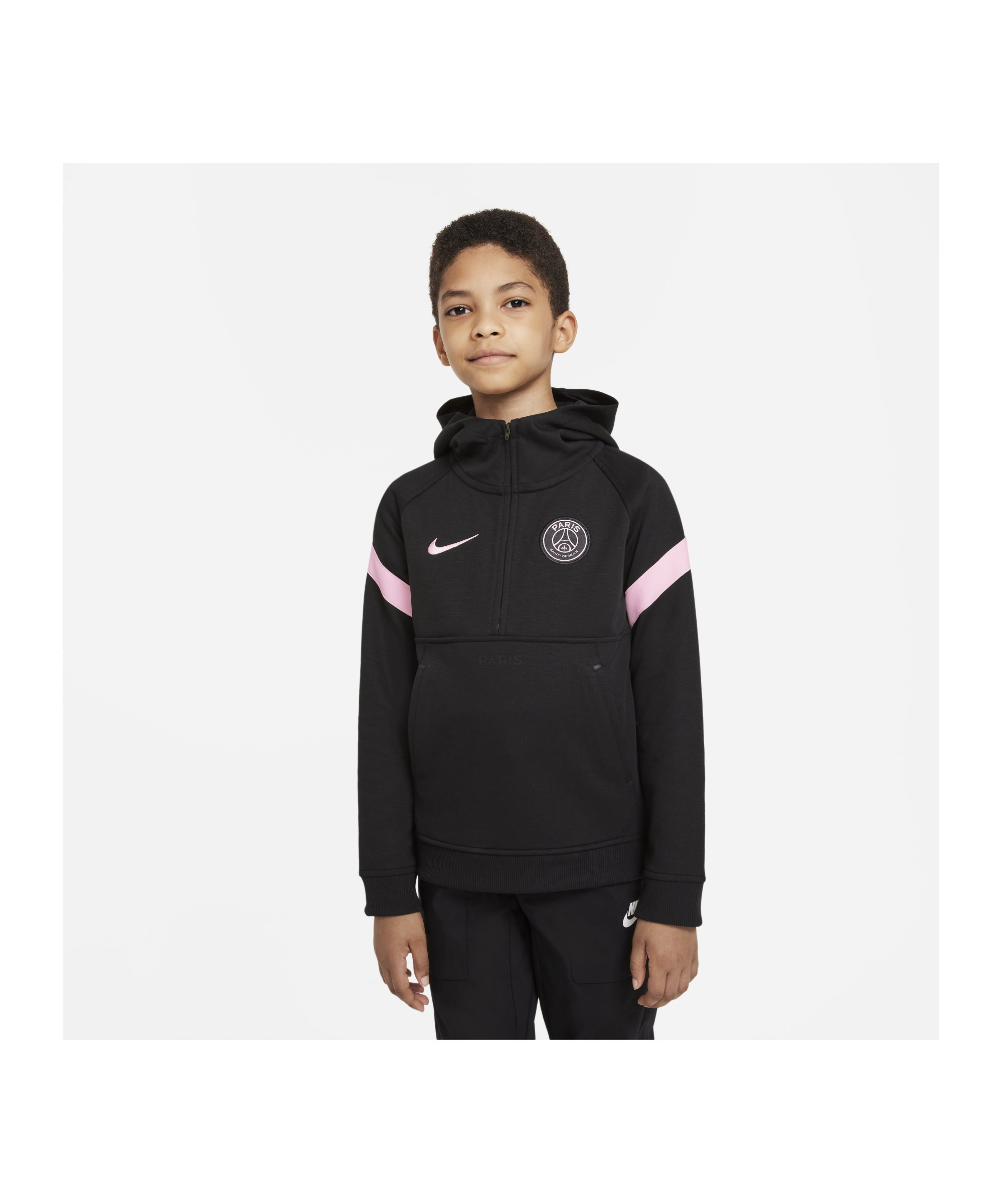 Nike Paris St. Germain Hoody Kids Schwarz F010 - schwarz