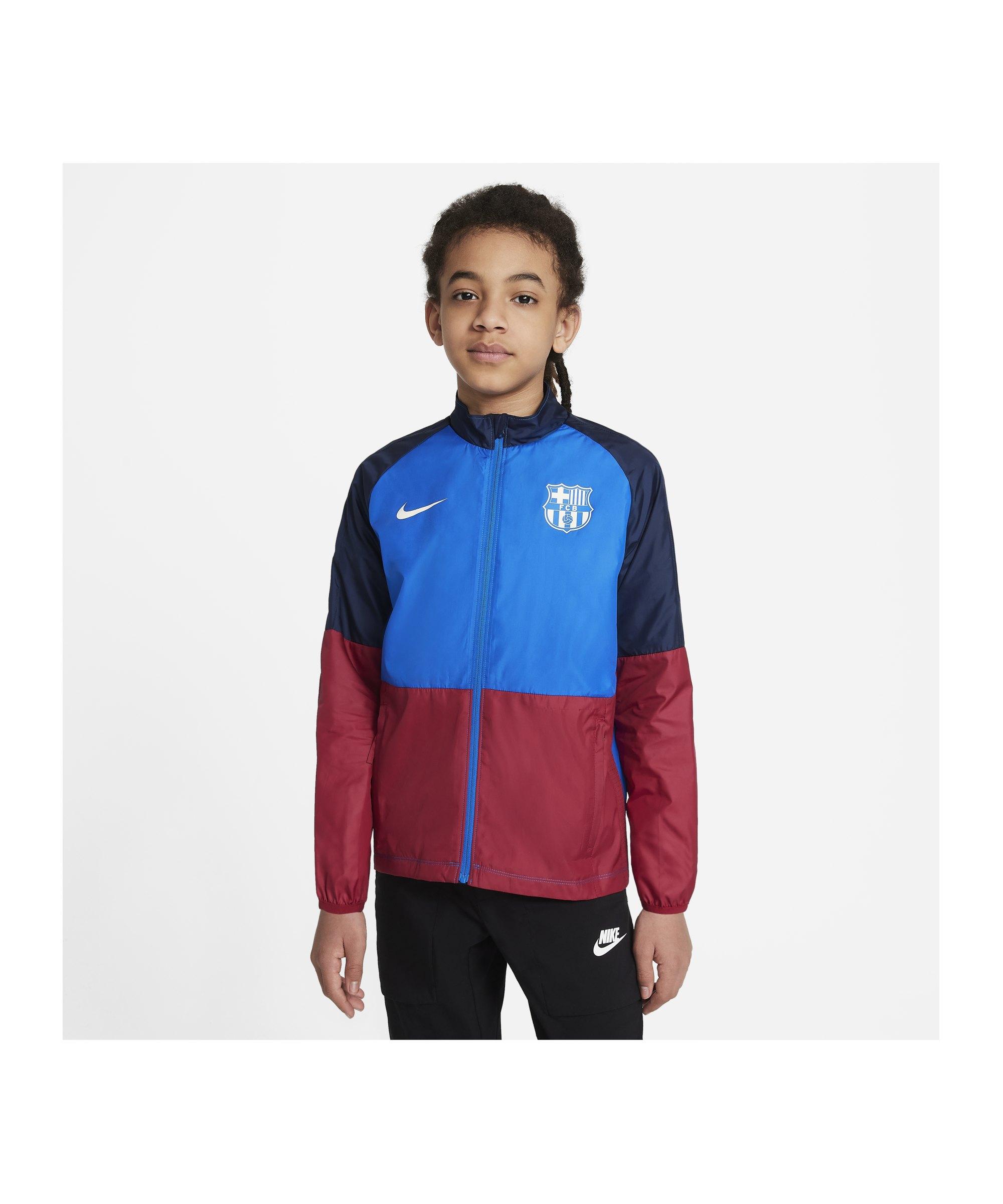 Nike FC Barcelona RPL Academy Jacke Kids F427 - blau