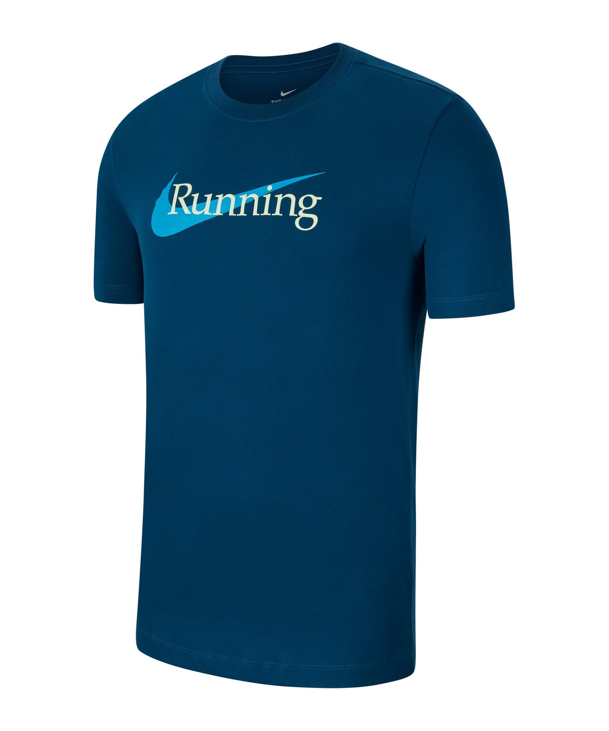 Nike HBR T-Shirt Running Blau F460 - blau