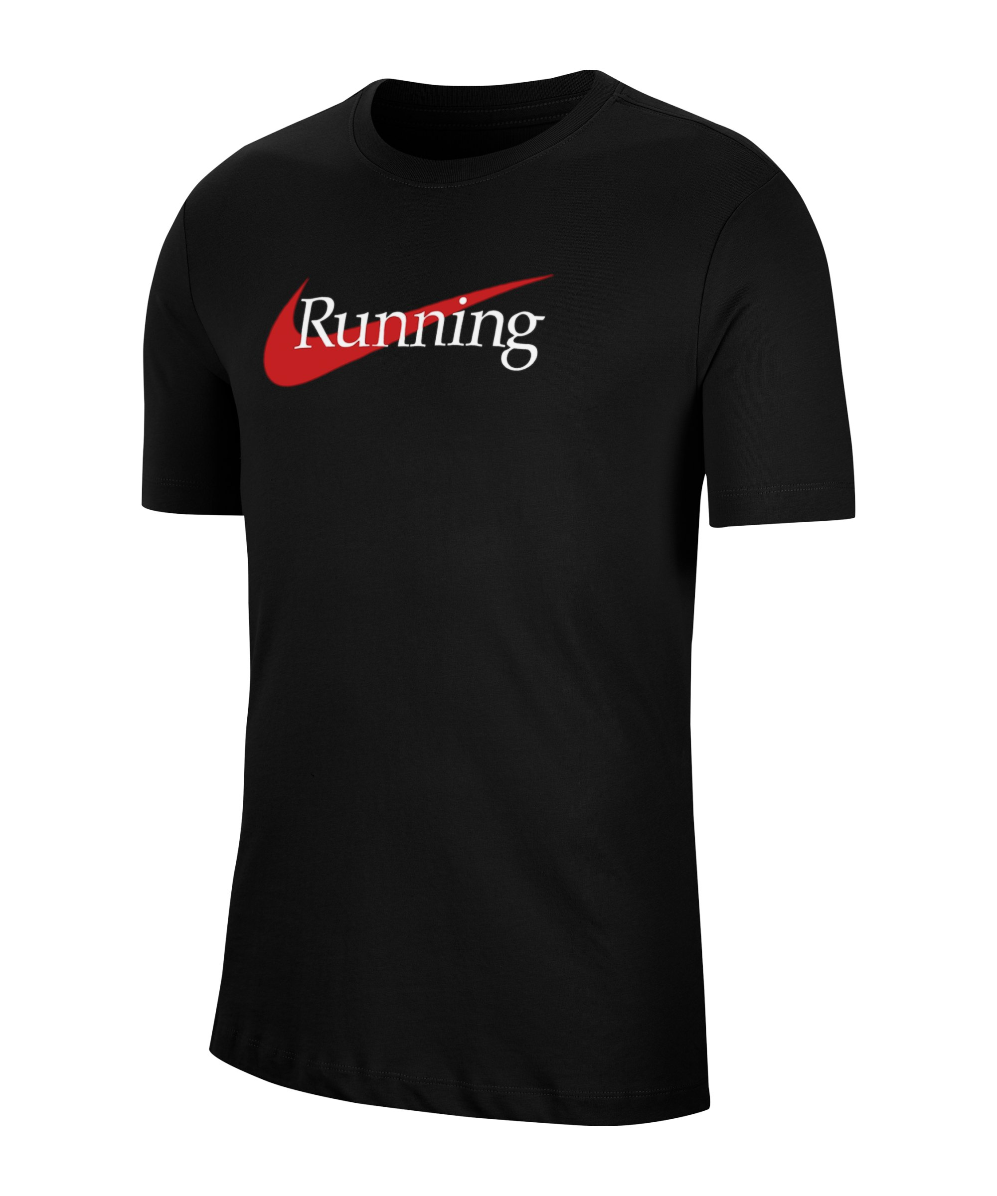 Nike HBR T-Shirt Running Schwarz F010 - schwarz