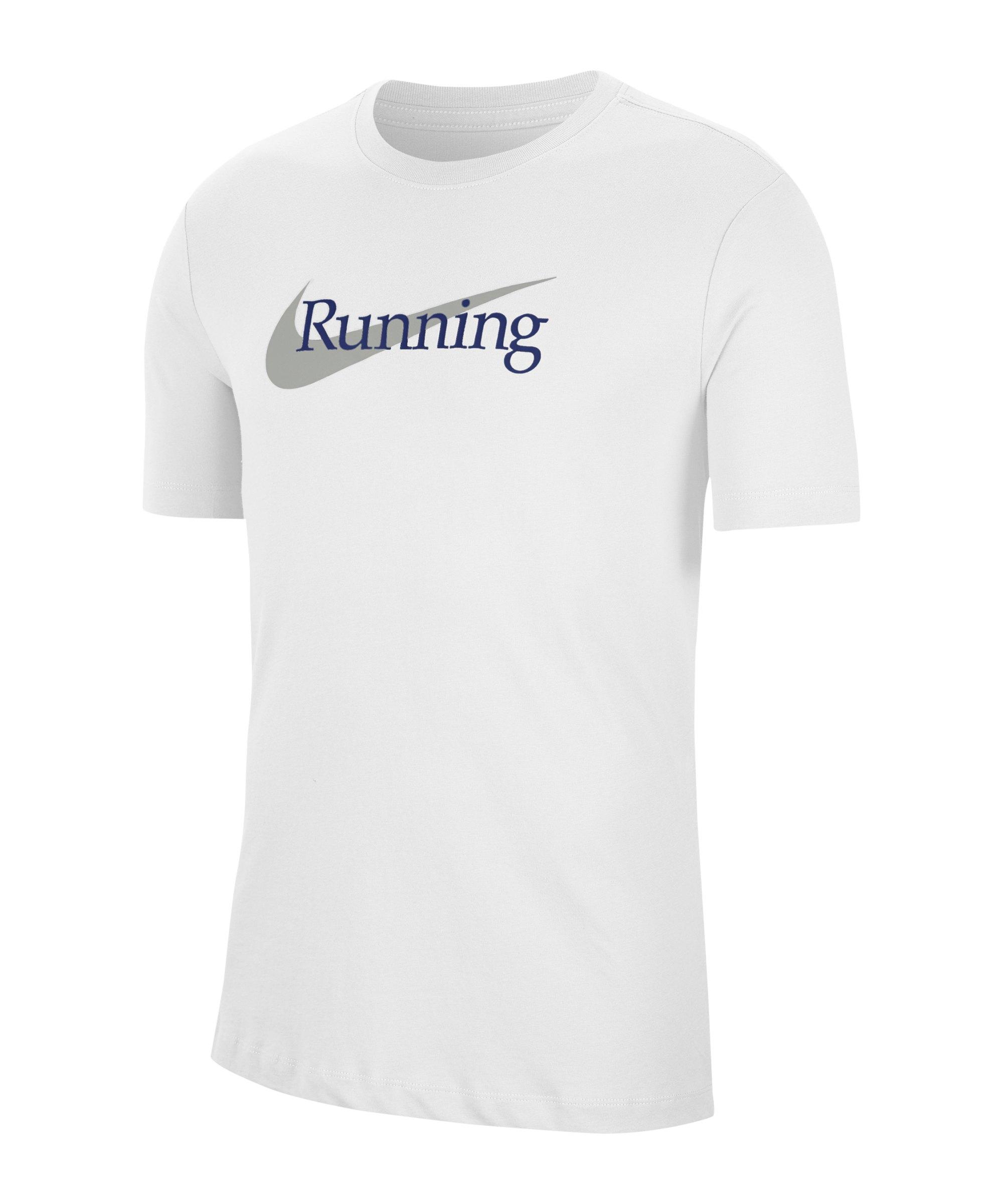 Nike HBR T-Shirt Running Weiss F100 - weiss