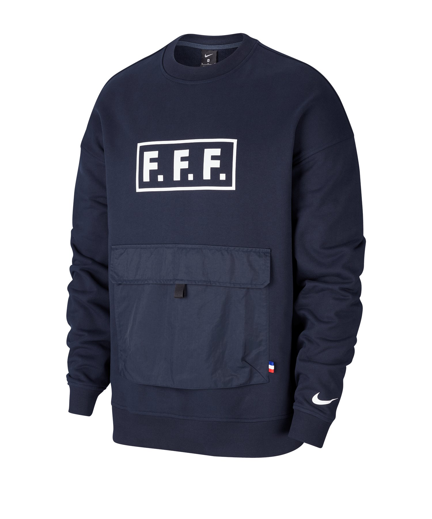 Nike Frankreich Quest Fleece Shirt langarm F475 - schwarz