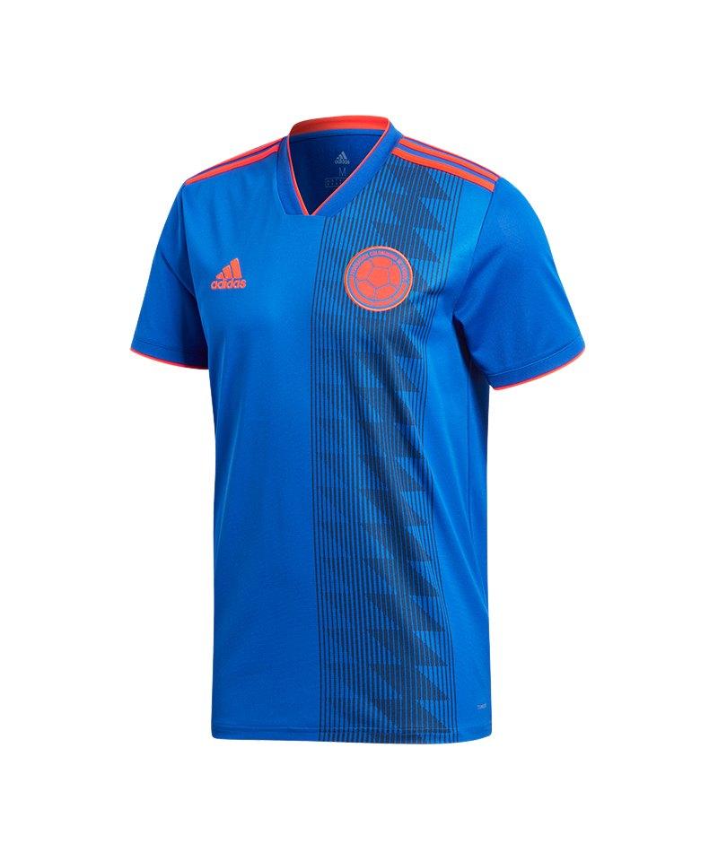 adidas Kolumbien Trikot Away WM 2018 Blau - blau