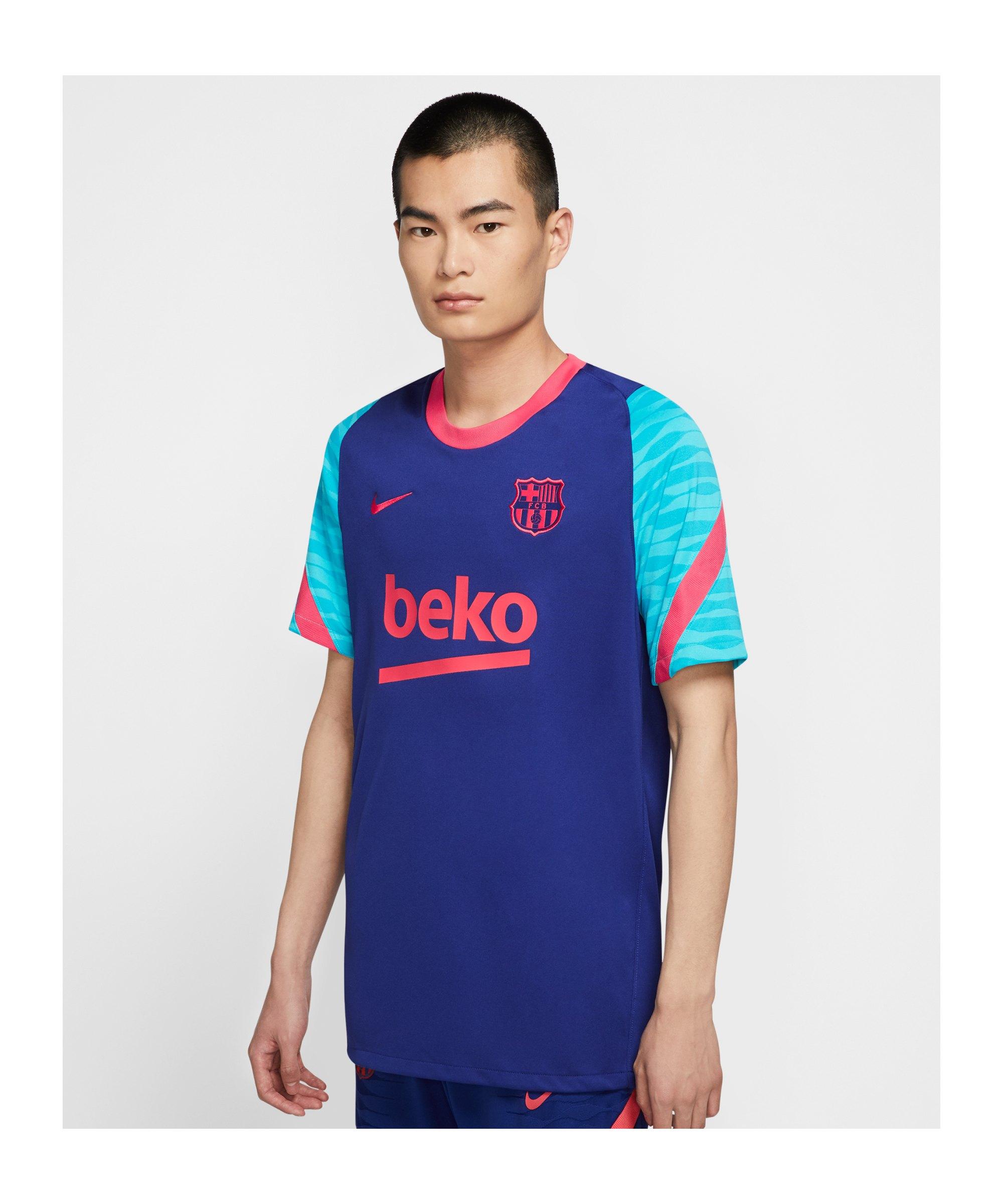 Nike FC Barcelona Strike T-Shirt Blau F456 - blau