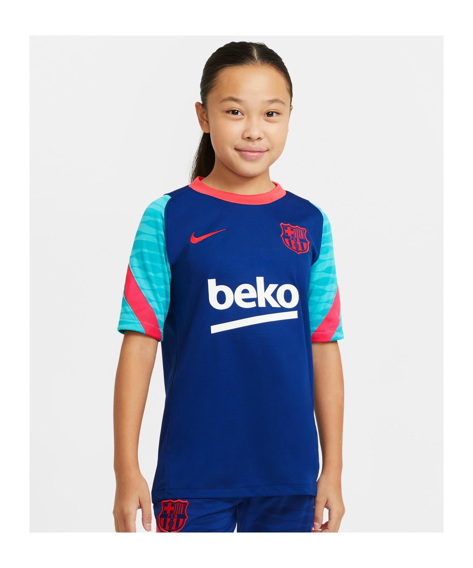Nike FC Barcelona Strike T-Shirt Kids Blau F456 - blau