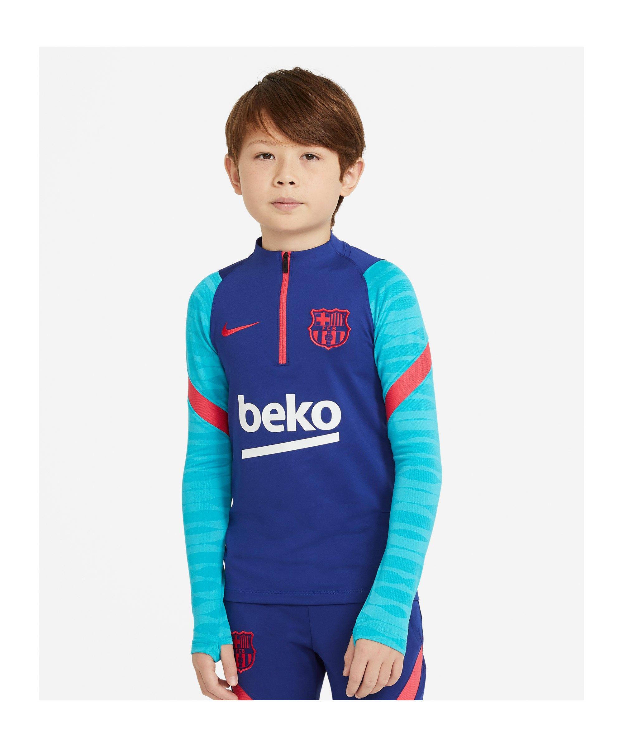 Nike FC Barcelona Drill Top Kids Blau F456 - blau