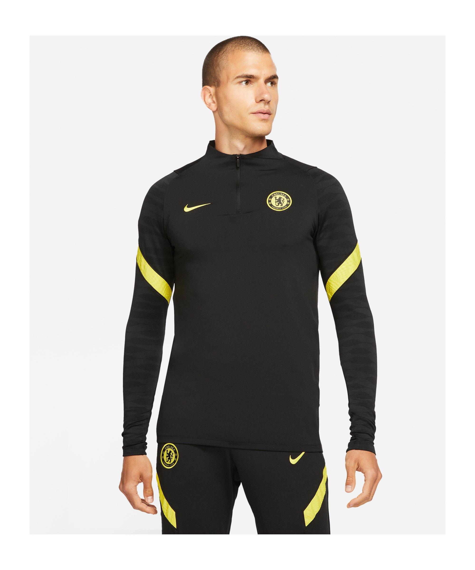 Nike FC Chelsea London Drill Top Schwarz F011 - schwarz
