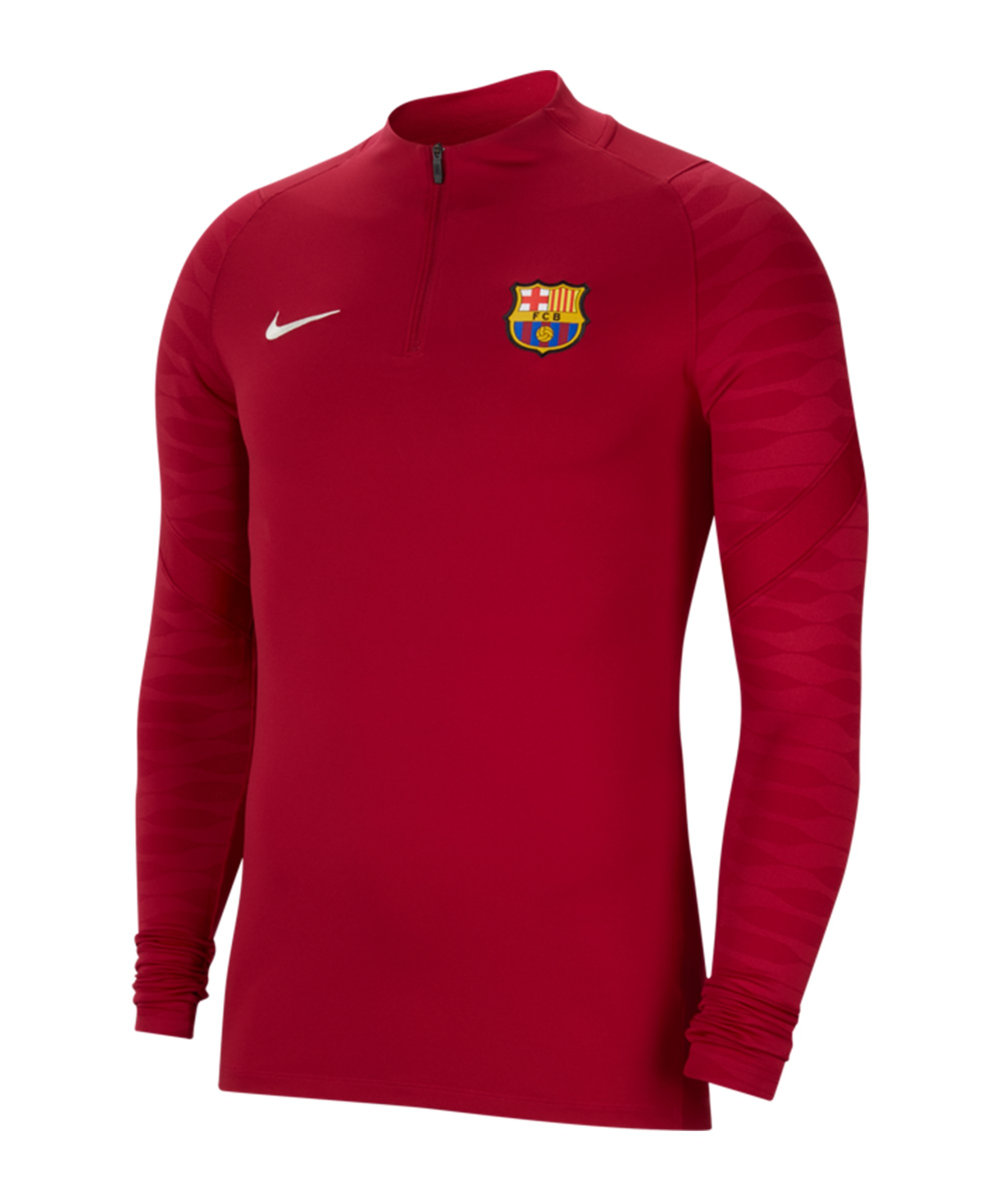 Nike FC Barcelona Drill Top Sweatshirt Rot F621 - rot