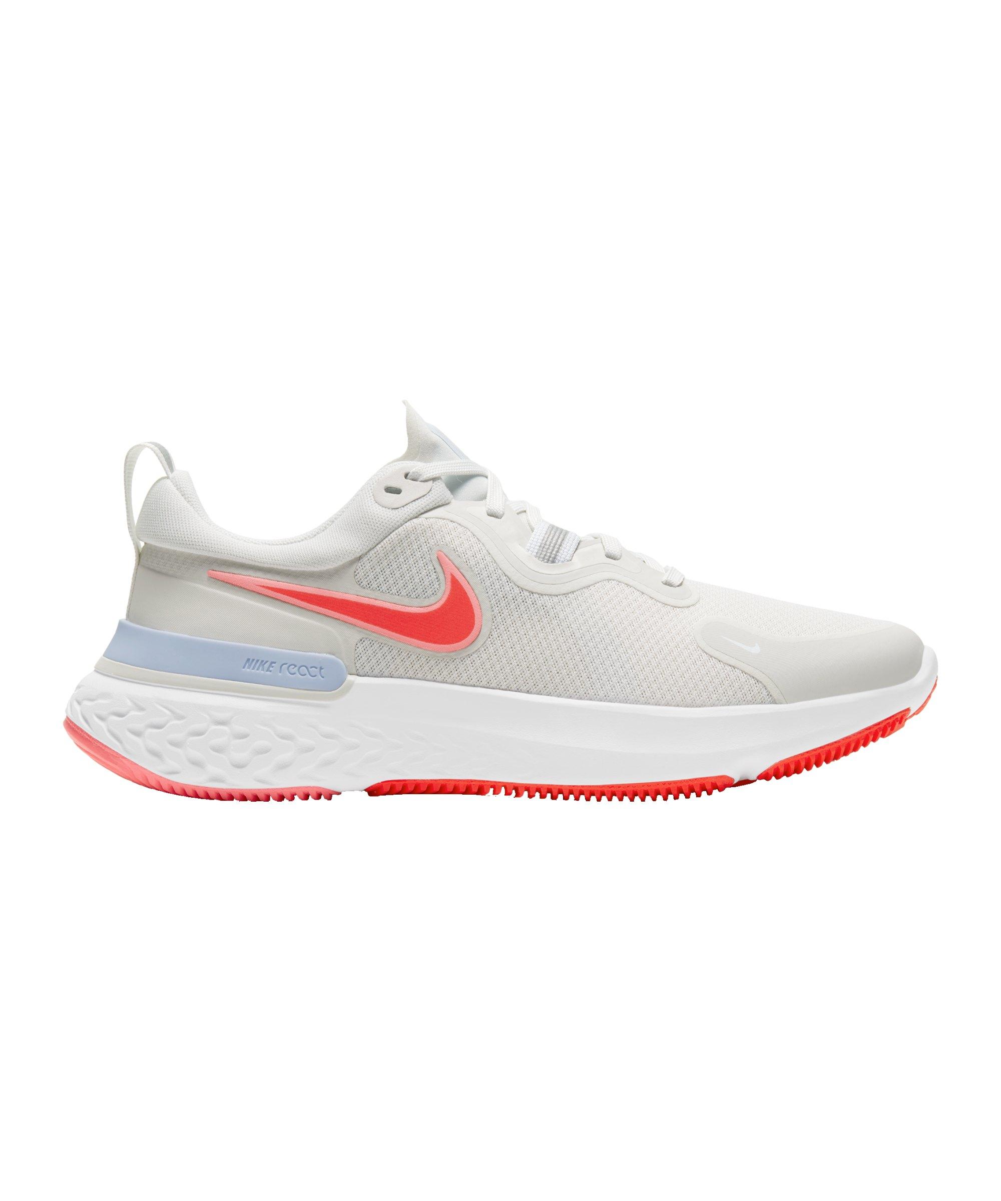 Nike React Miler Running Damen Beige Rot F010 - beige