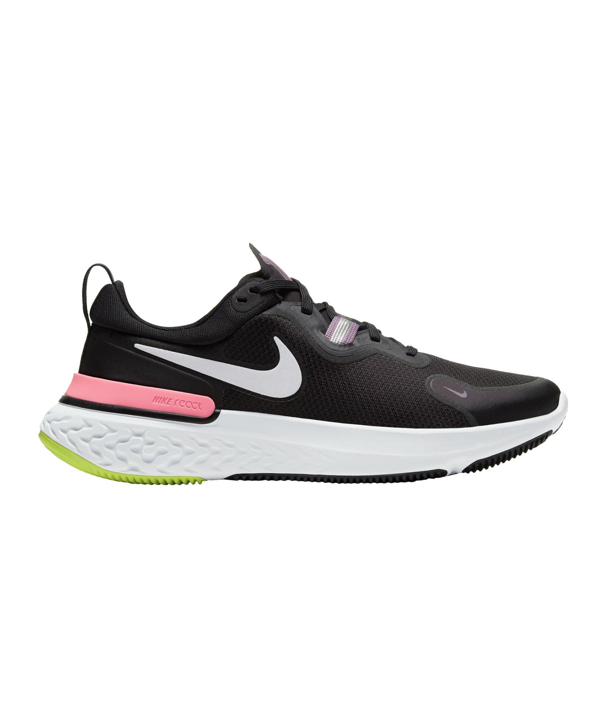 Nike React Miler Running Damen Schwarz F012 - schwarz