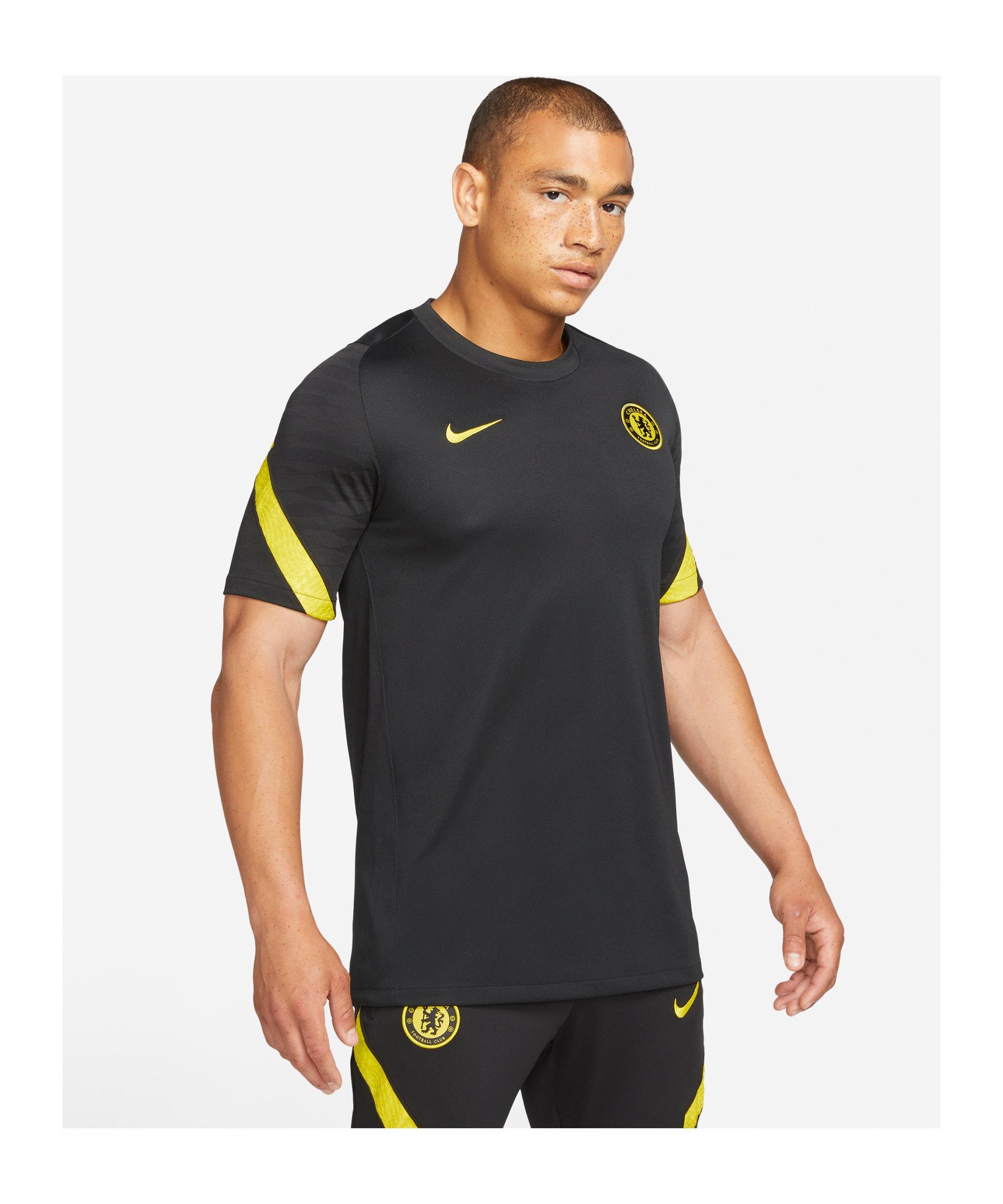 Nike FC Chelsea London Trainingsshirt Schwarz F011 - schwarz