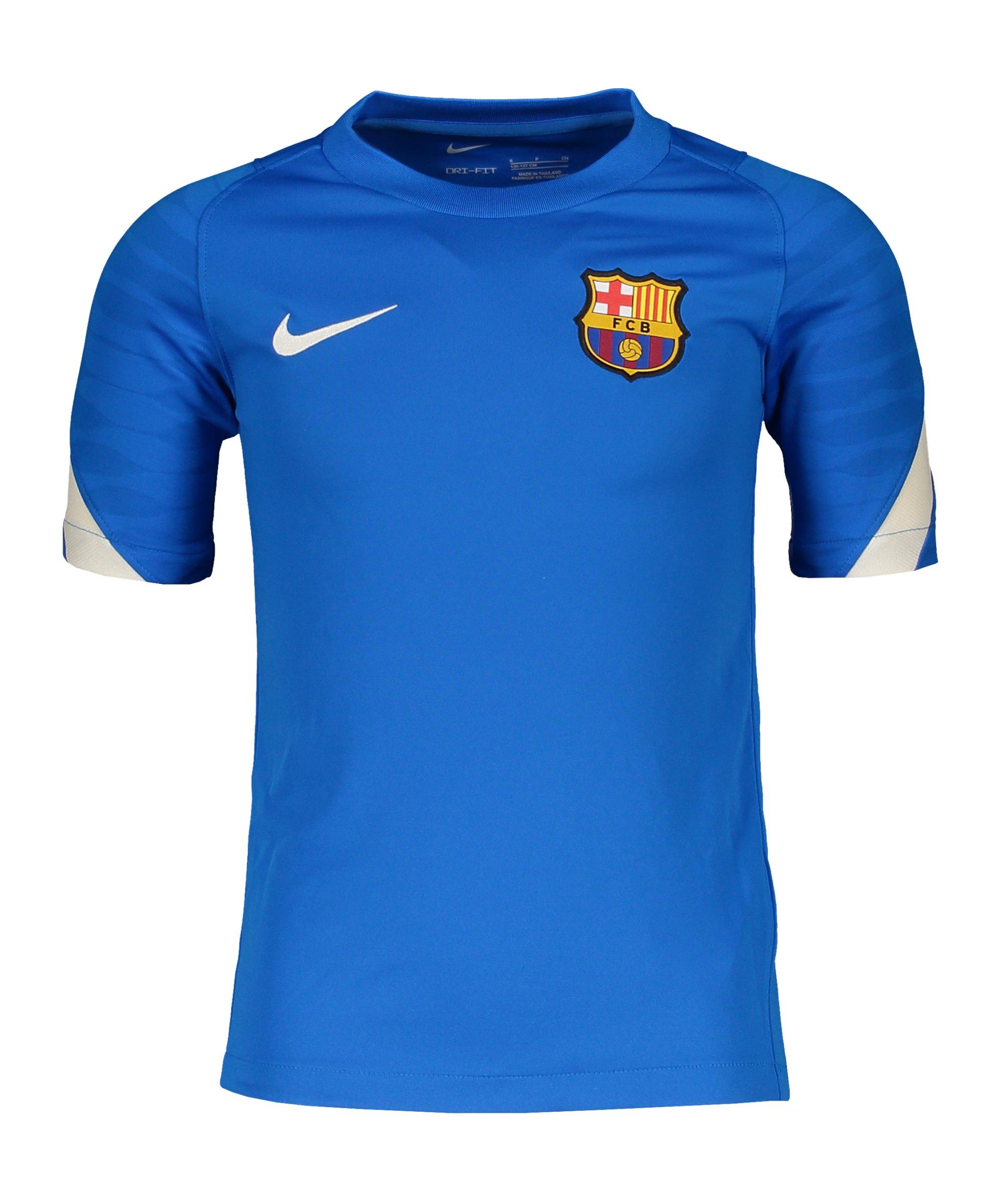 Nike FC Barcelona Strike T-Shirt Kids Blau F427 - blau