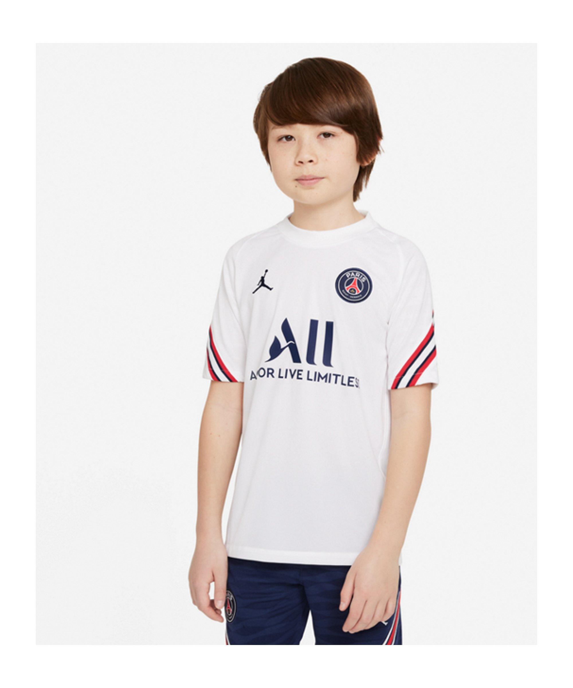 Jordan Paris St. Germain Trainingsshirt Kids F101 - weiss