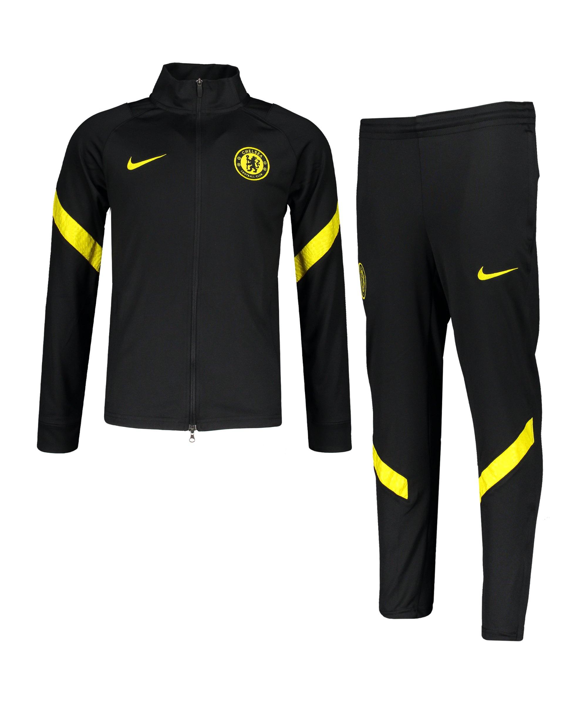 Nike FC Chelsea London Trainingsanzug Kids Schwarz F011 - schwarz