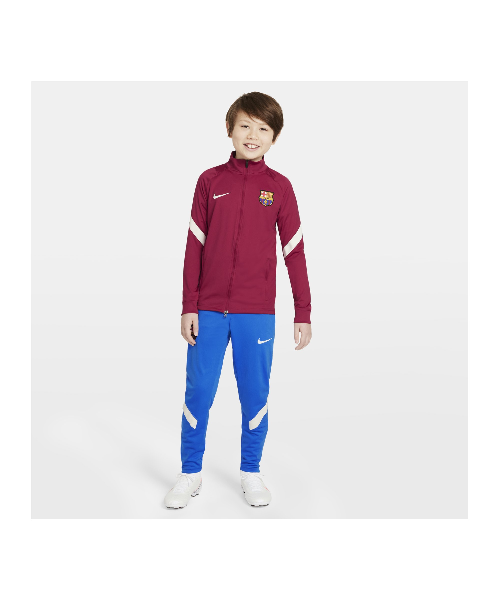 Nike FC Barcelona Strike Trainingsanzug Kids F621 - rot