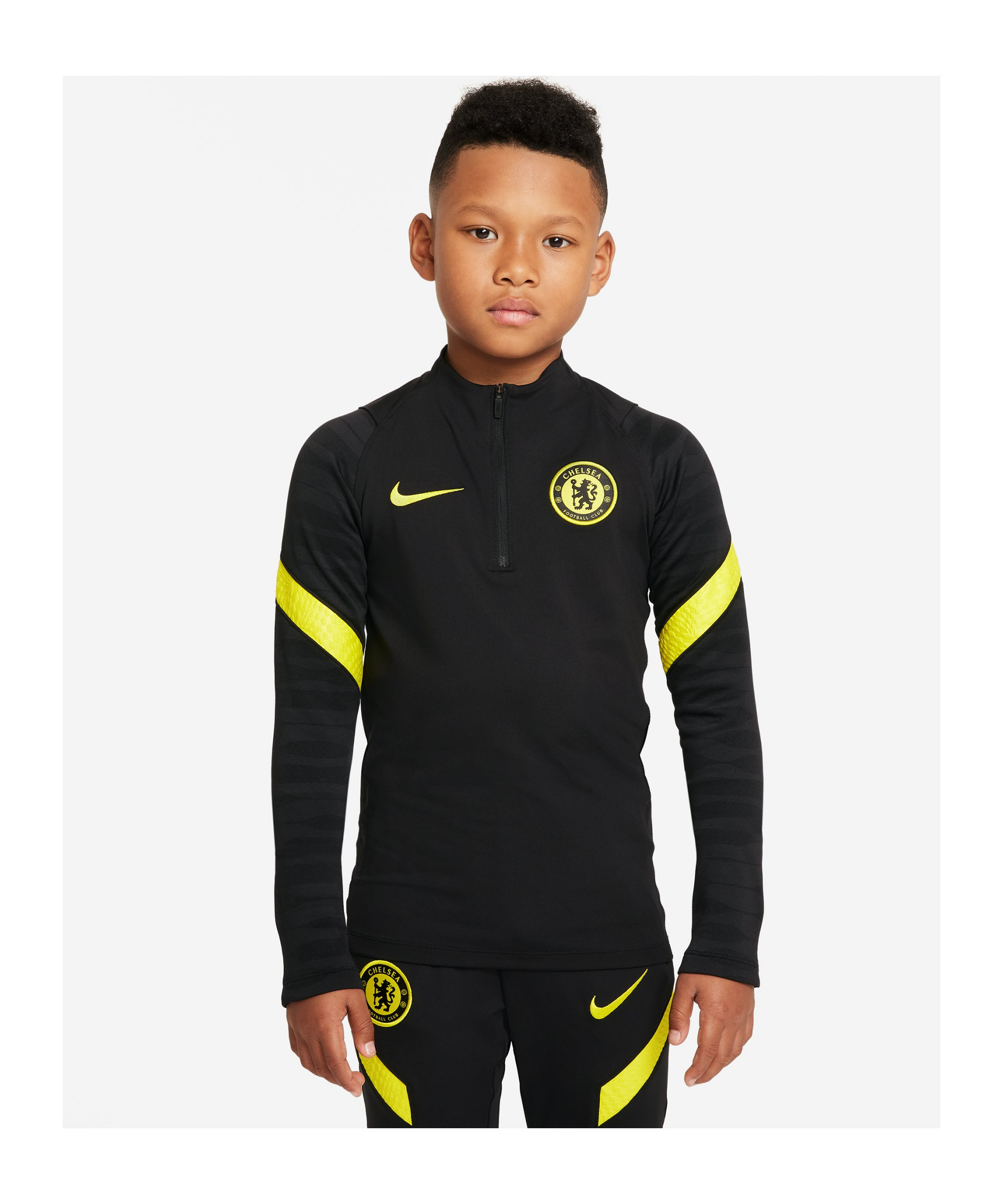 Nike FC Chelsea London Drill Top Kids Schwarz F011 - schwarz