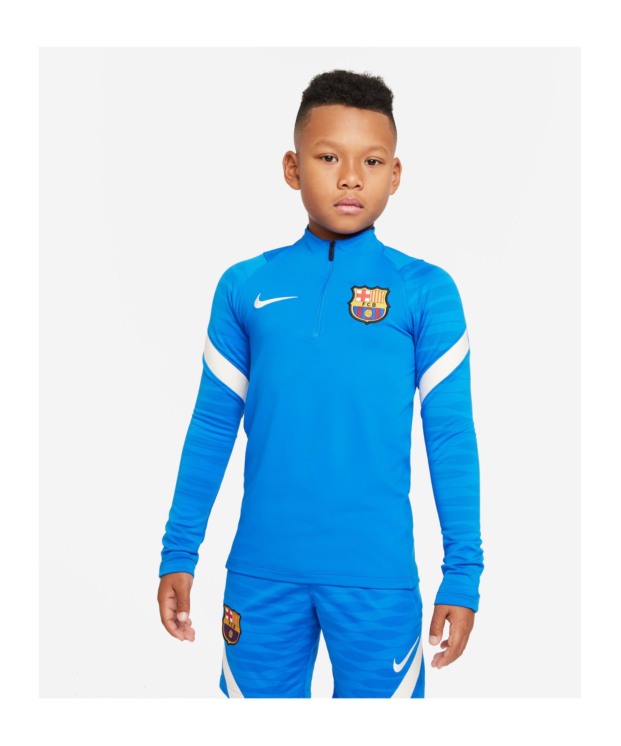 Nike FC Barcelona Drill Top Kids Blau F430 - blau