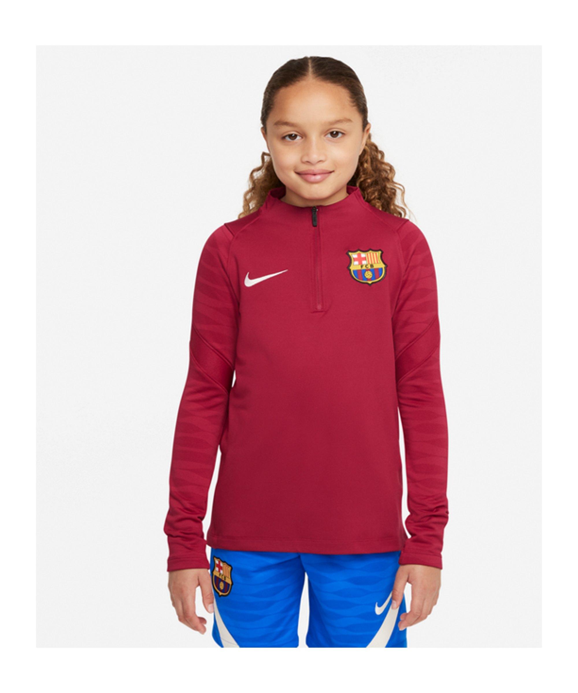 Nike FC Barcelona Drill Top Sweatshirt Kids F621 - rot